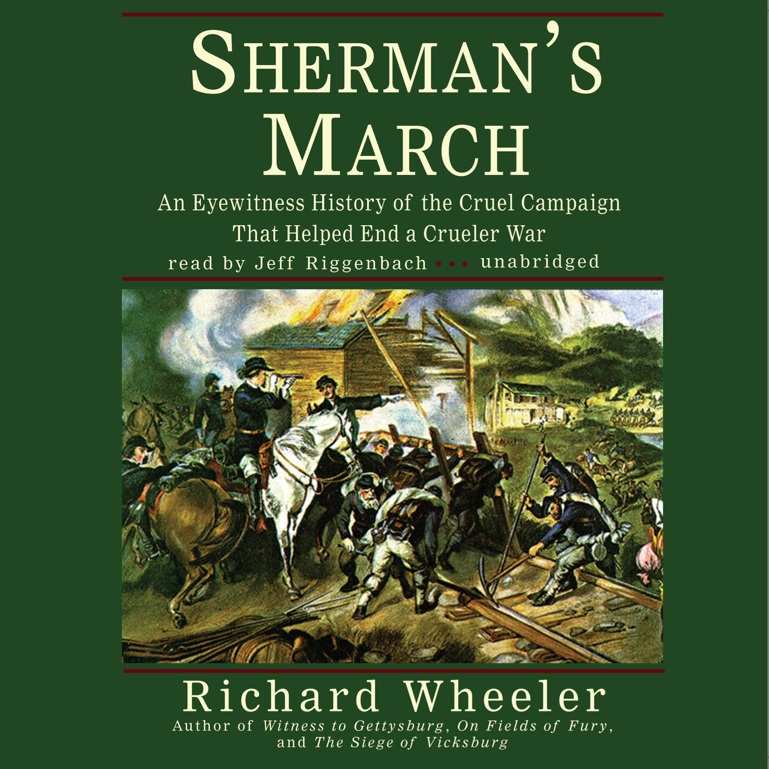 Printable Sherman's March: An Eyewitness History of the Cruel Campaign That Helped End a Crueler War Audiobook Cover Art