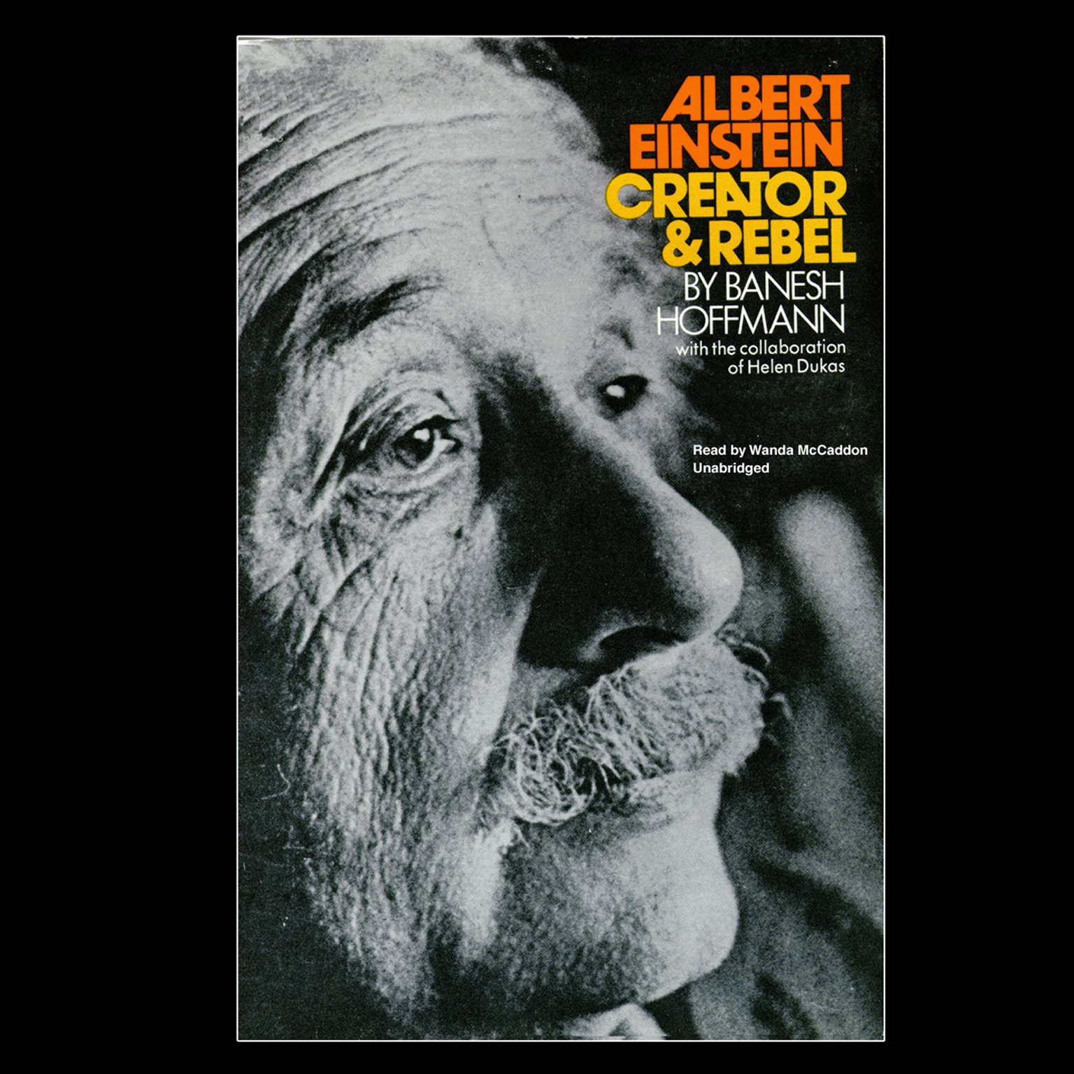 Printable Albert Einstein: Creator & Rebel Audiobook Cover Art