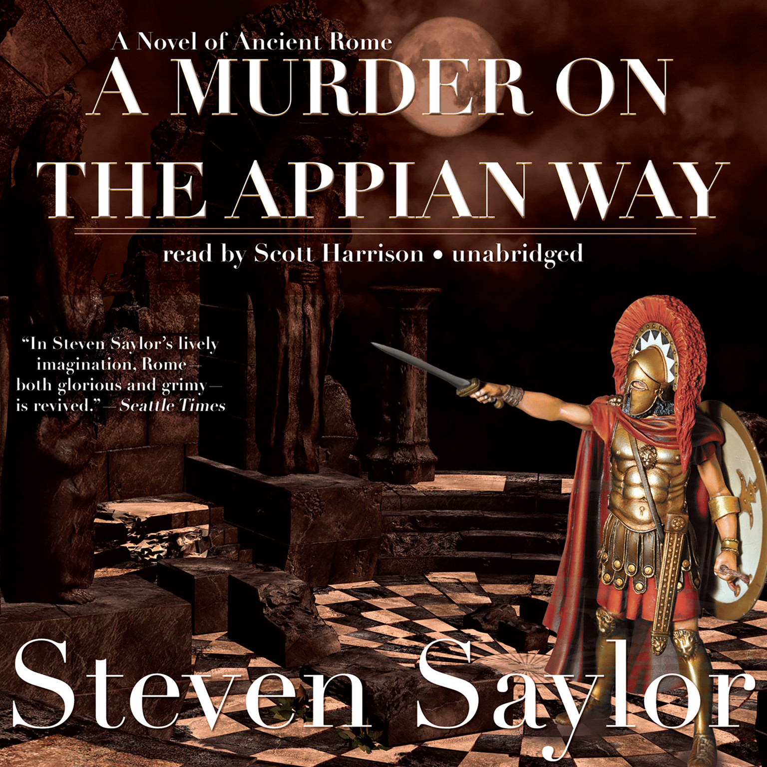 Printable A Murder on the Appian Way Audiobook Cover Art