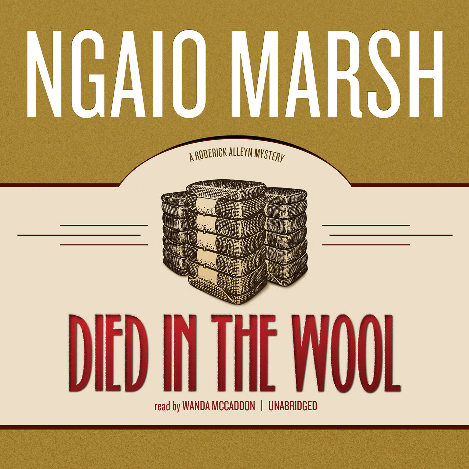 Printable Died in the Wool Audiobook Cover Art
