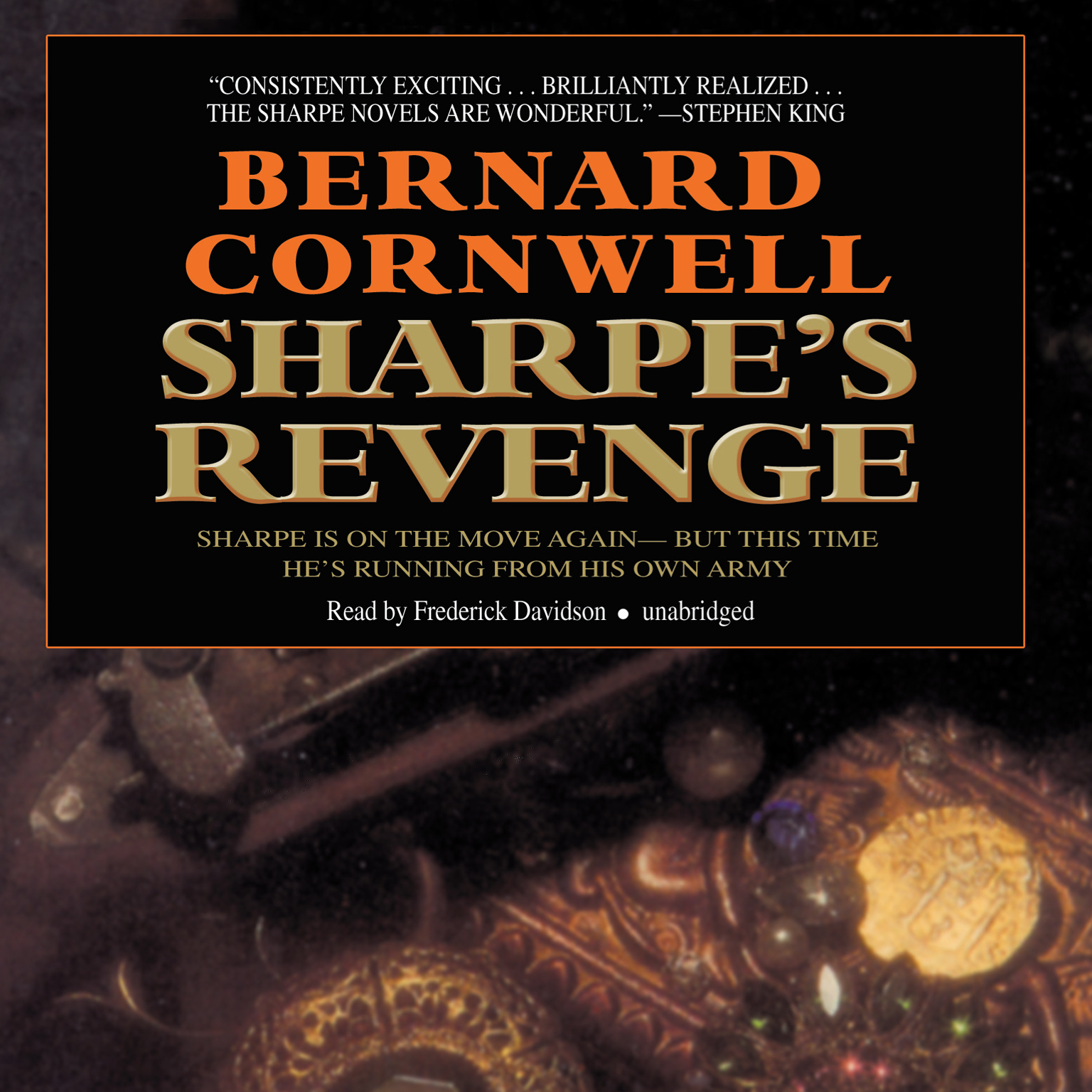 Printable Sharpe's Revenge: Richard Sharpe and the Peace of 1814 Audiobook Cover Art
