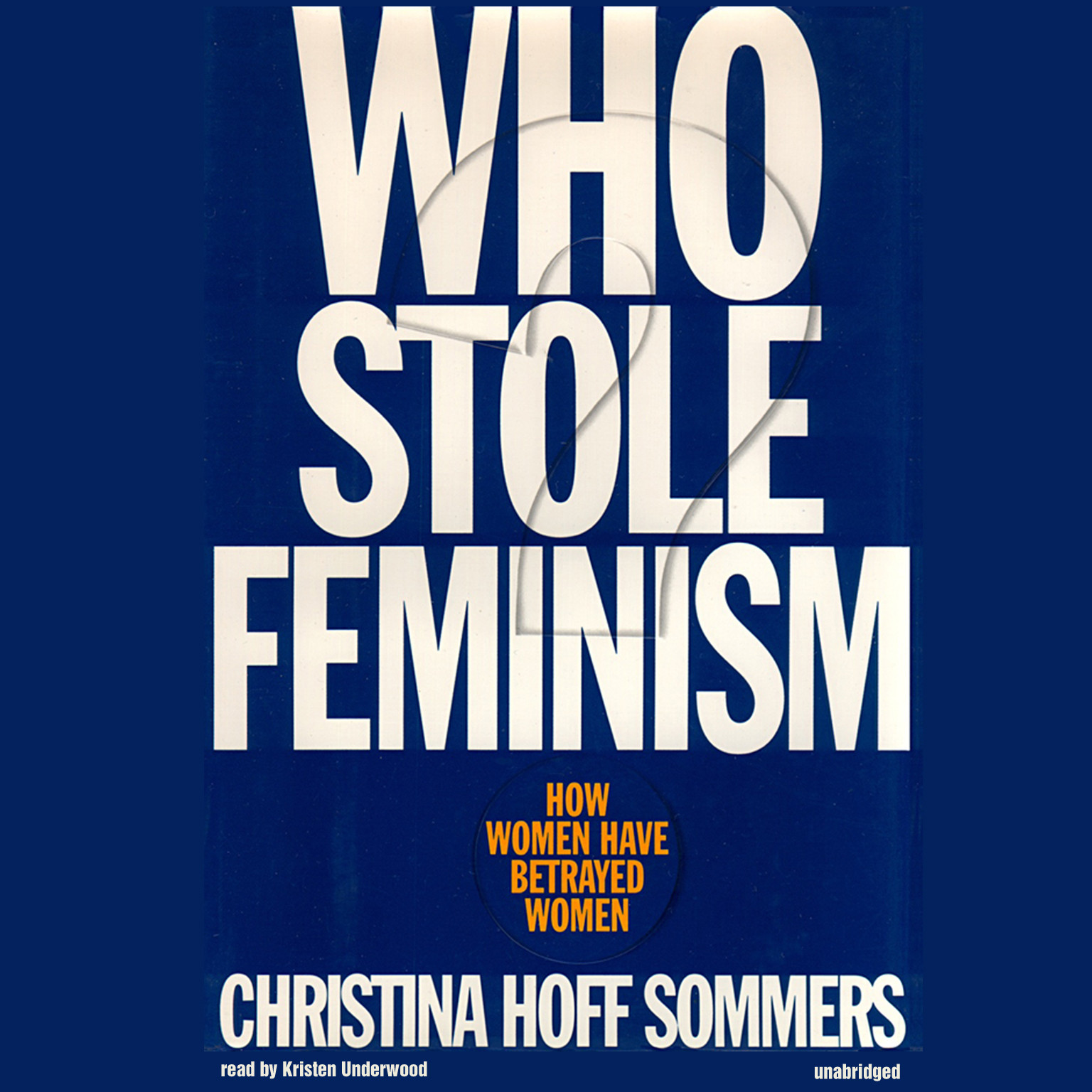 Printable Who Stole Feminism? Audiobook Cover Art