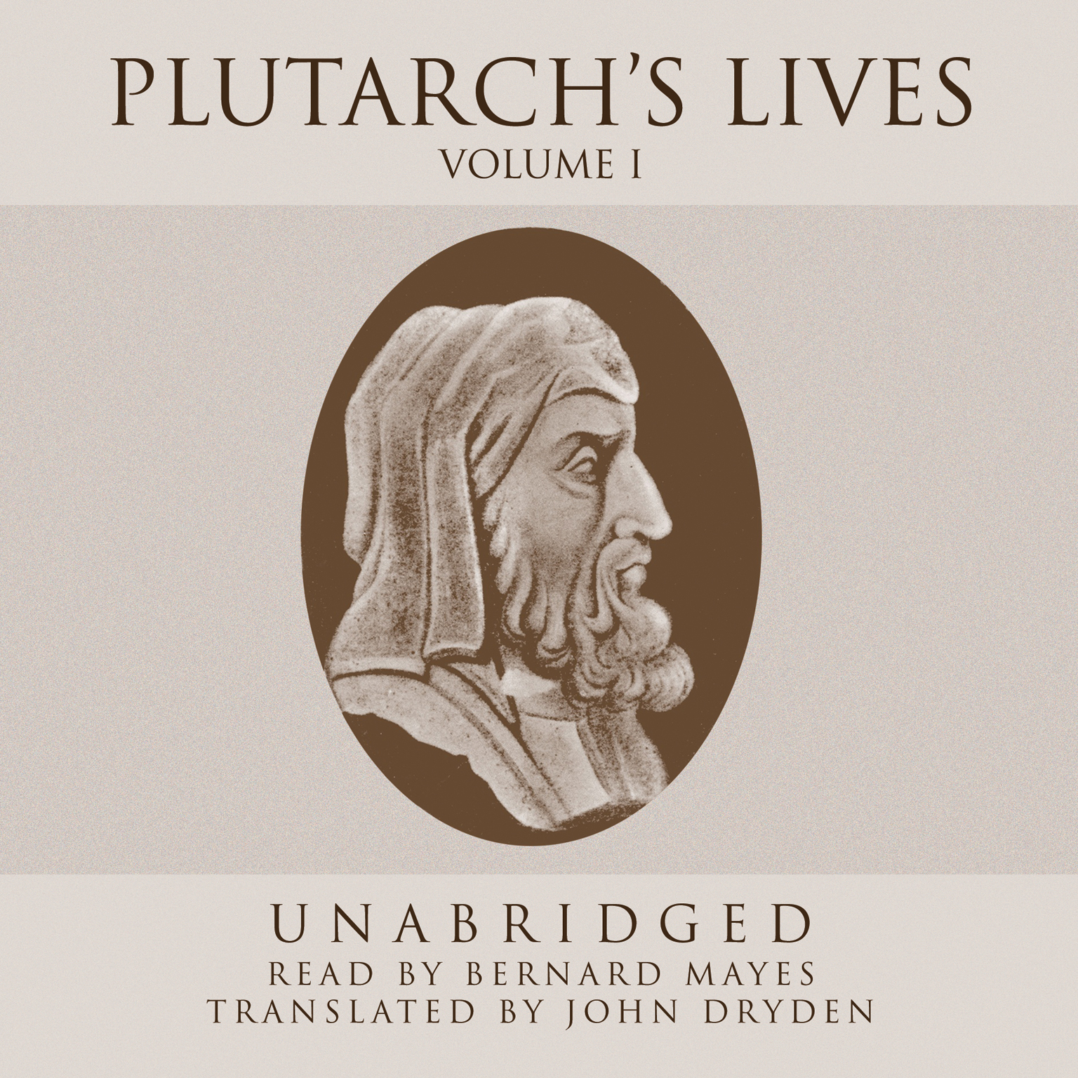 Printable Plutarch's Lives, Vol. 1 Audiobook Cover Art
