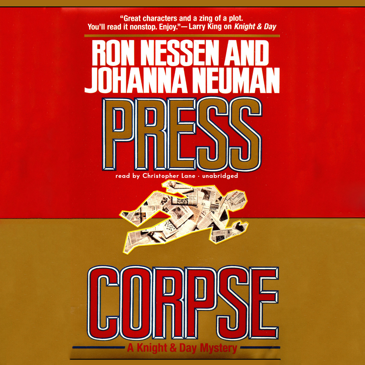 Printable Press Corpse Audiobook Cover Art