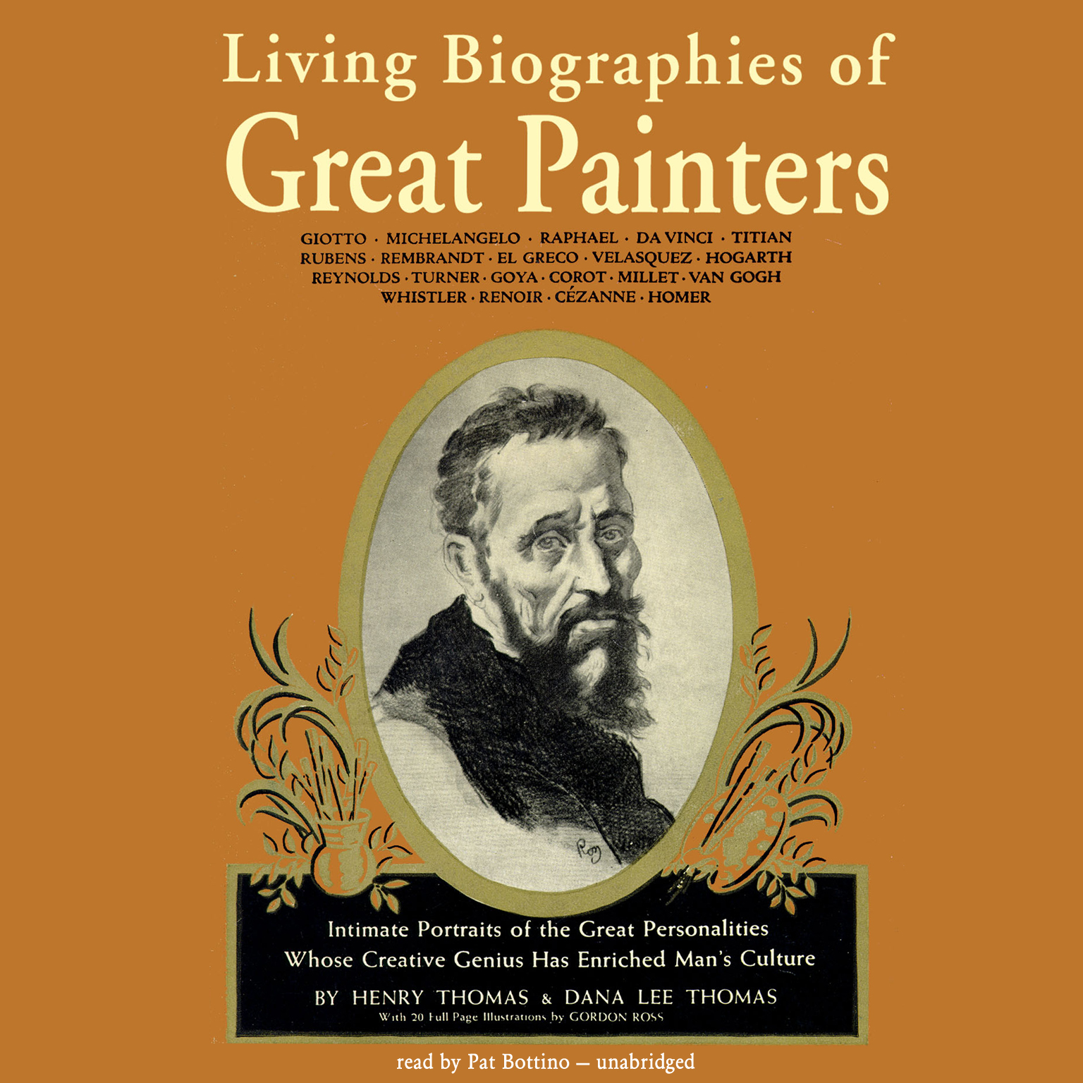 Printable Living Biographies of Great Painters Audiobook Cover Art