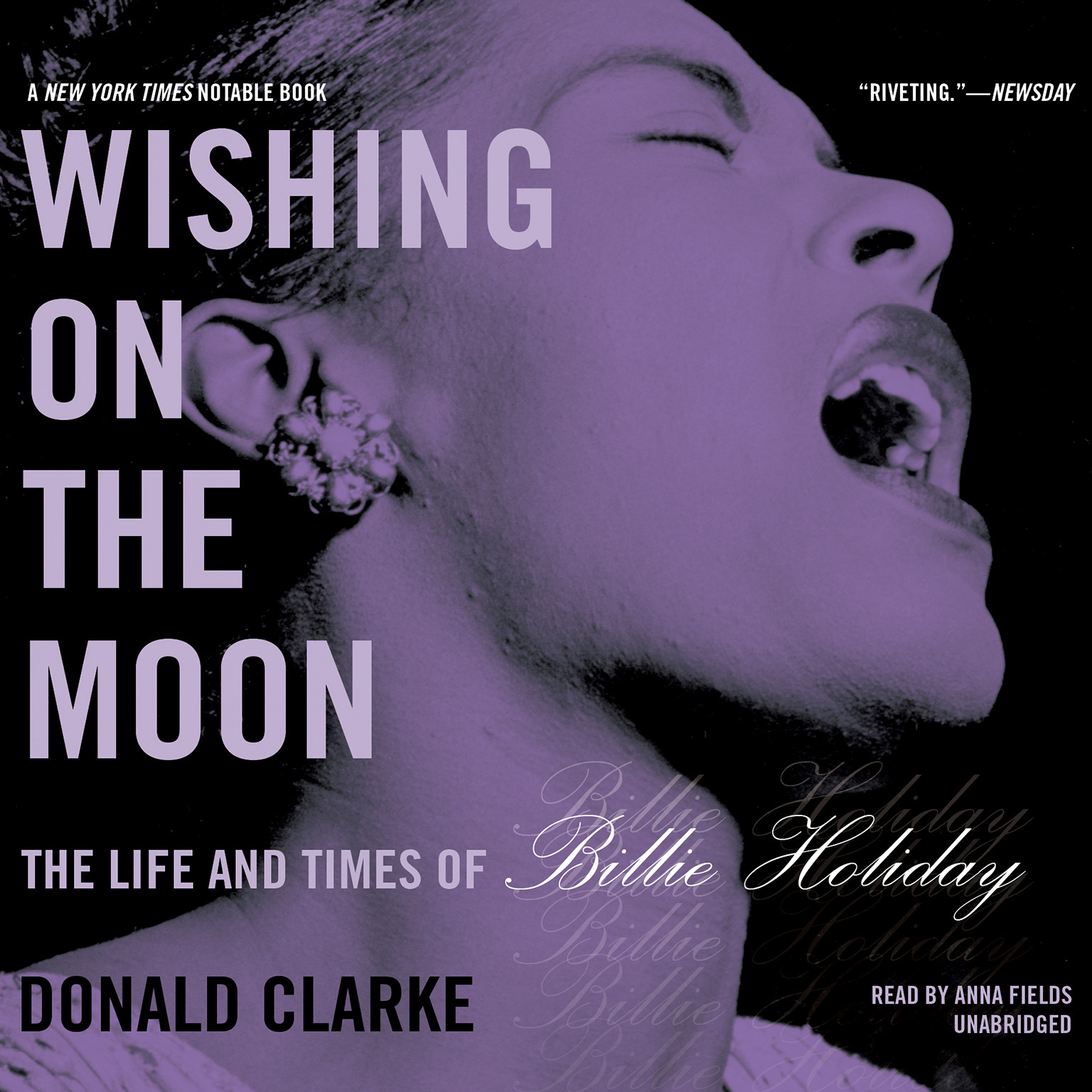 Printable Wishing on the Moon: The Life and Times of Billie Holiday Audiobook Cover Art