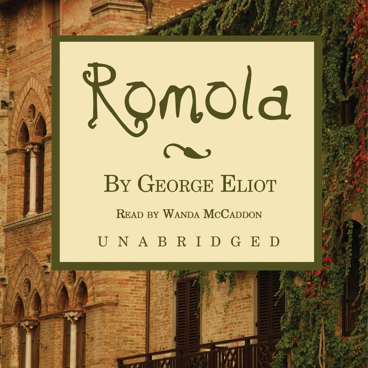 Printable Romola Audiobook Cover Art