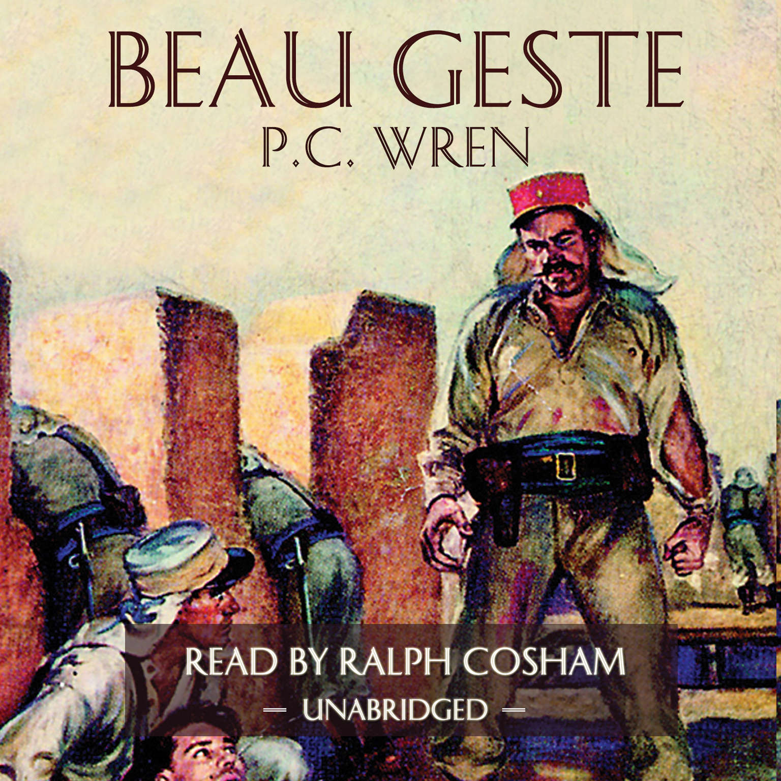 Printable Beau Geste Audiobook Cover Art