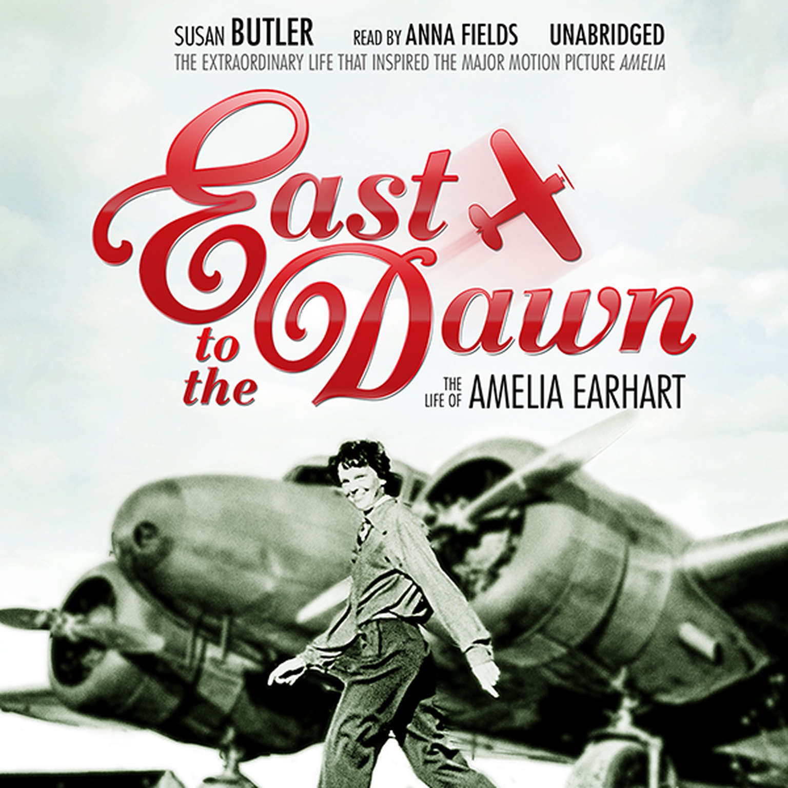 Printable East to the Dawn: The Life of Amelia Earhart Audiobook Cover Art