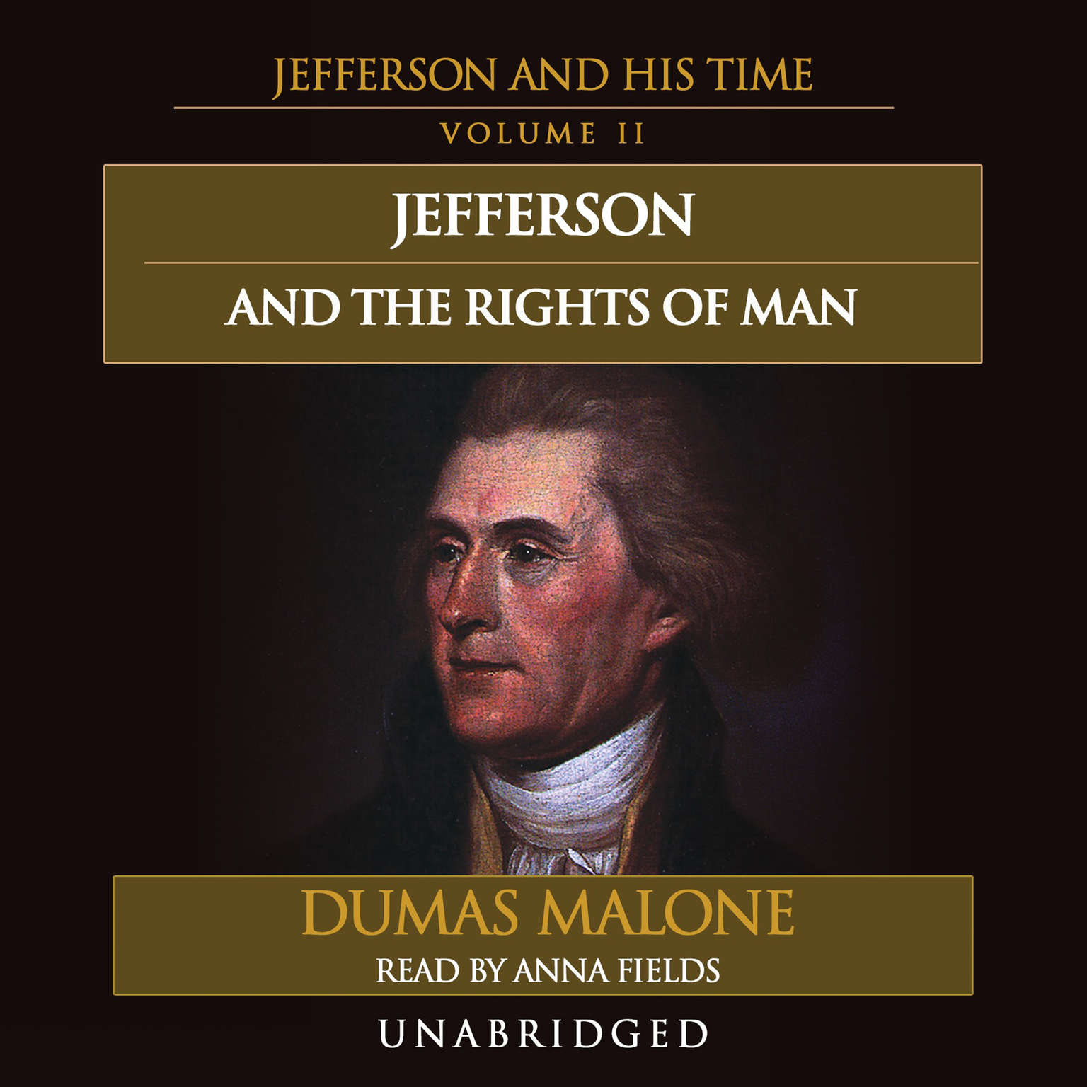 Printable Jefferson and the Rights of Man: Jefferson and His Time, Volume 2 Audiobook Cover Art