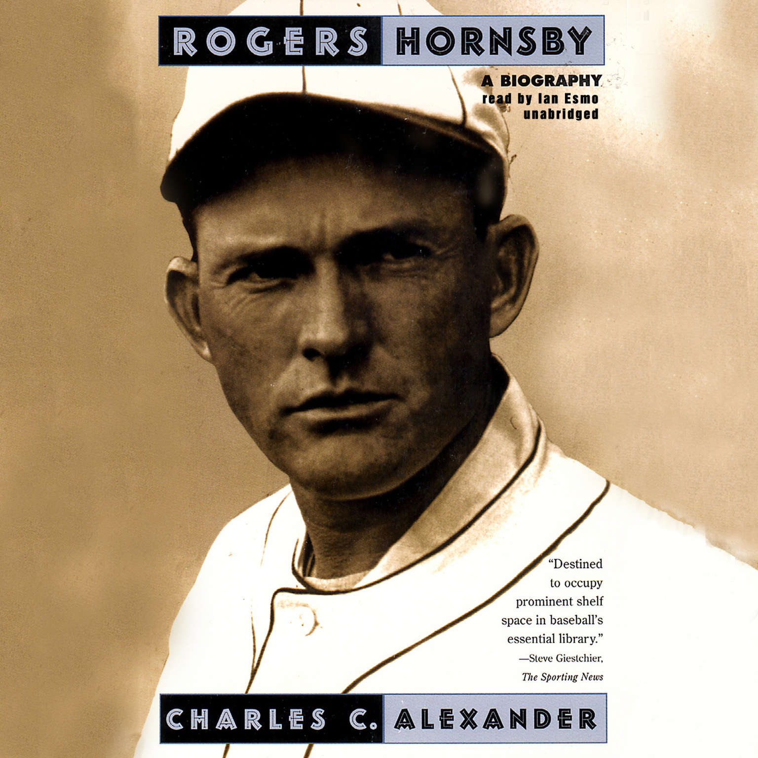 Printable Rogers Hornsby: A Biography Audiobook Cover Art