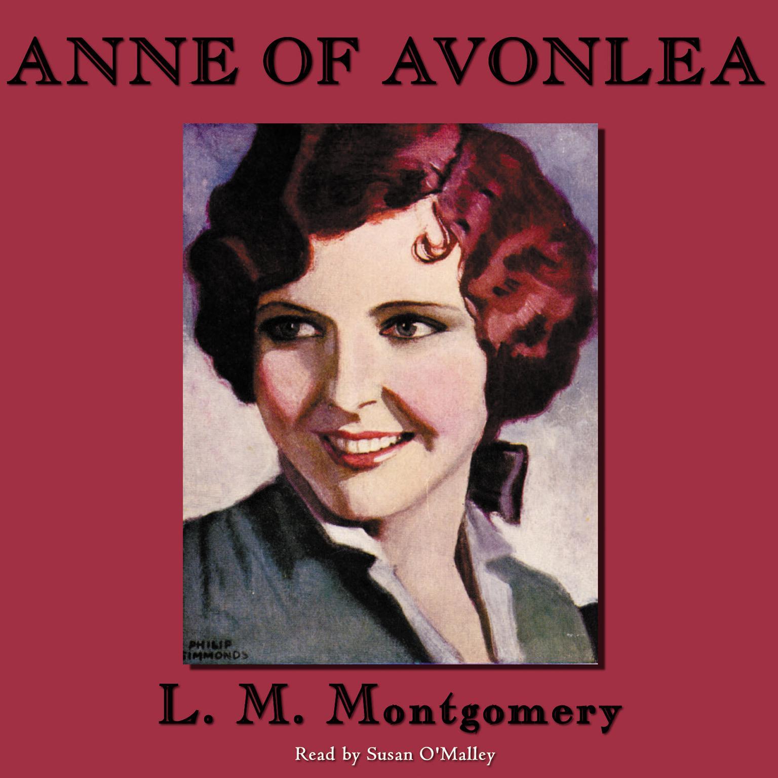 Printable Anne of Avonlea Audiobook Cover Art