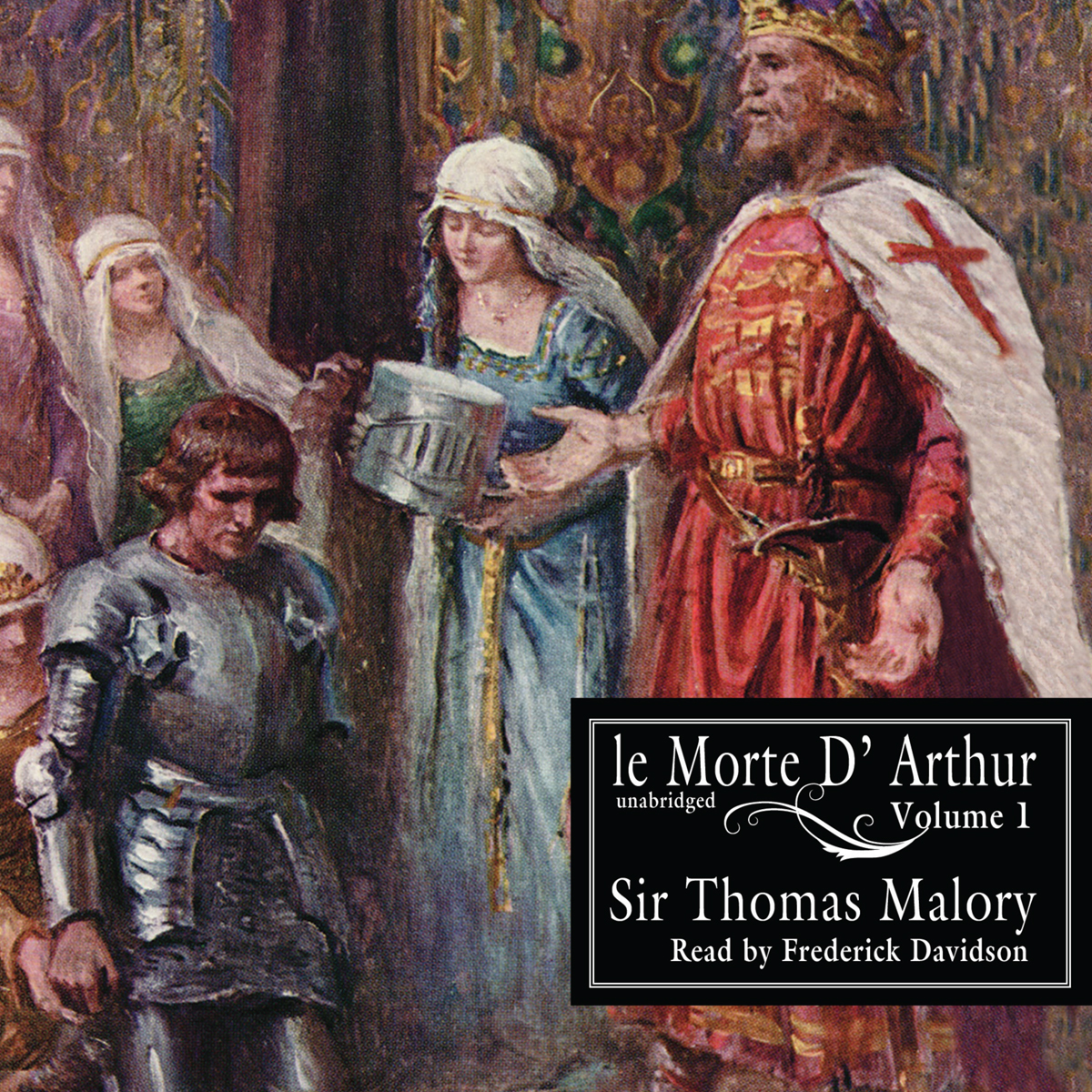 Printable Le Morte d'Arthur, Vol. 1 Audiobook Cover Art