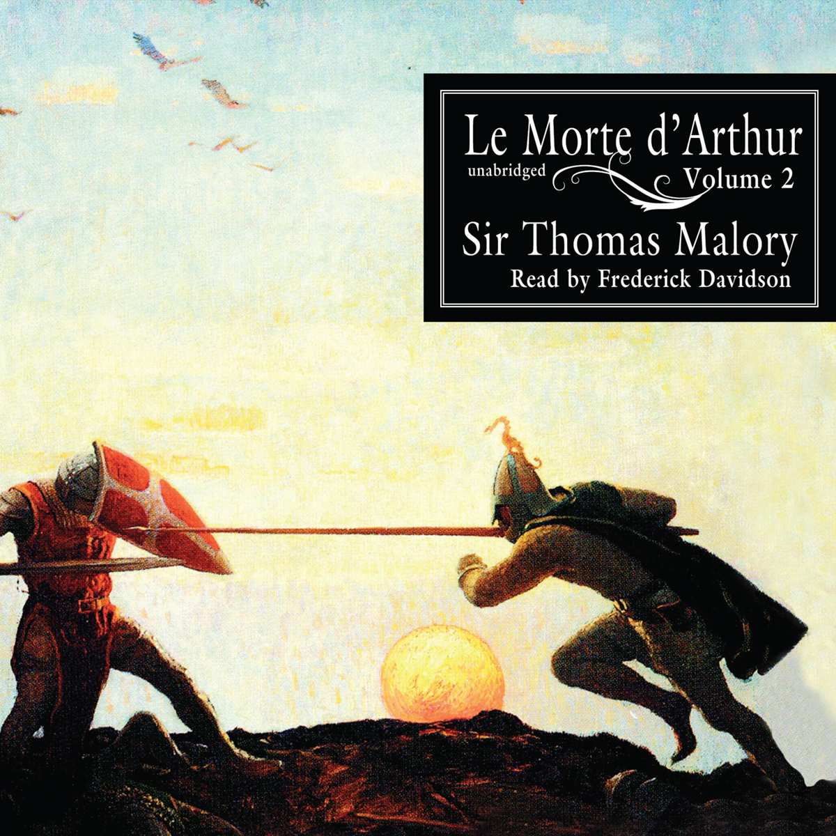 Printable Le Morte d'Arthur, Vol. 2 Audiobook Cover Art