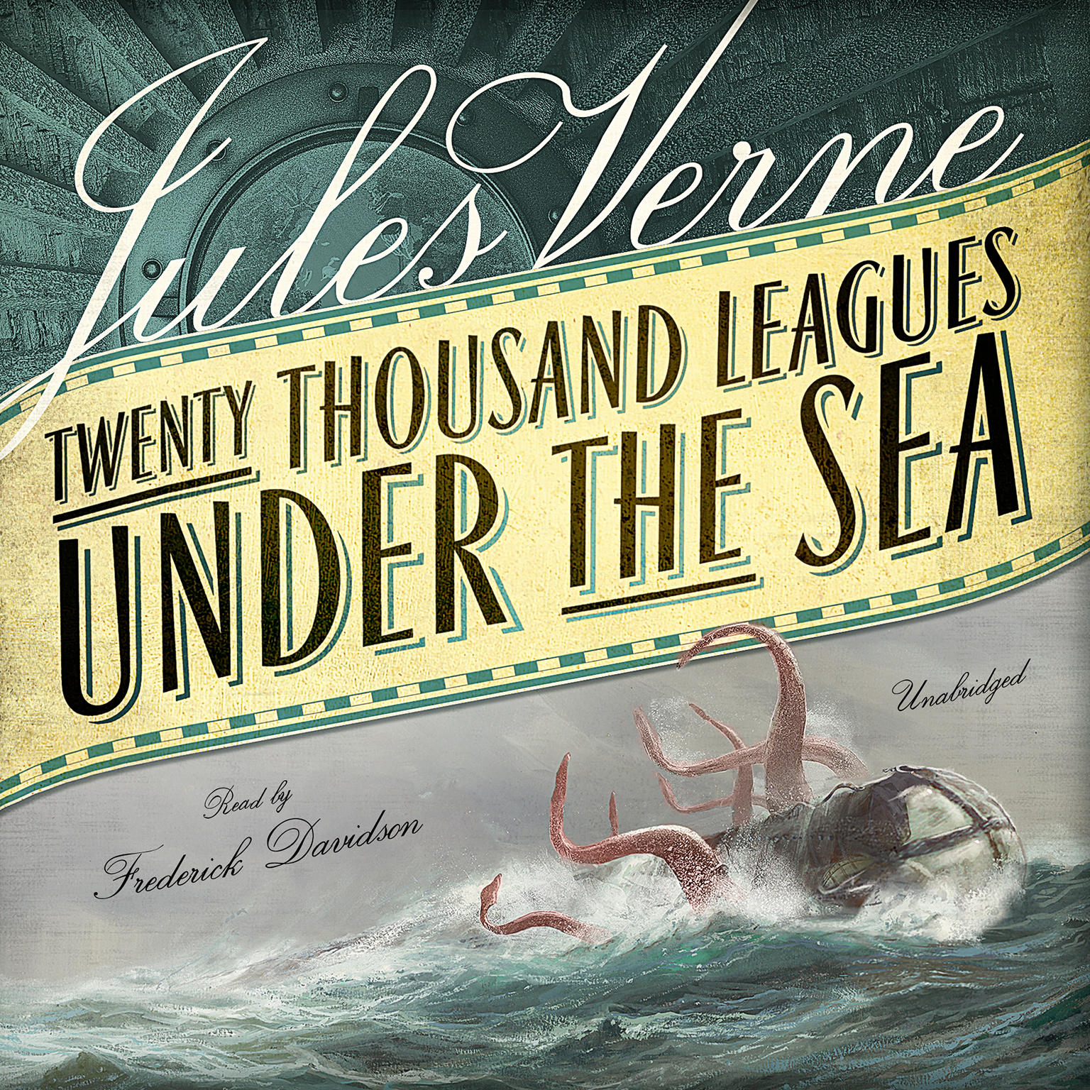 Printable Twenty Thousand Leagues under the Sea Audiobook Cover Art
