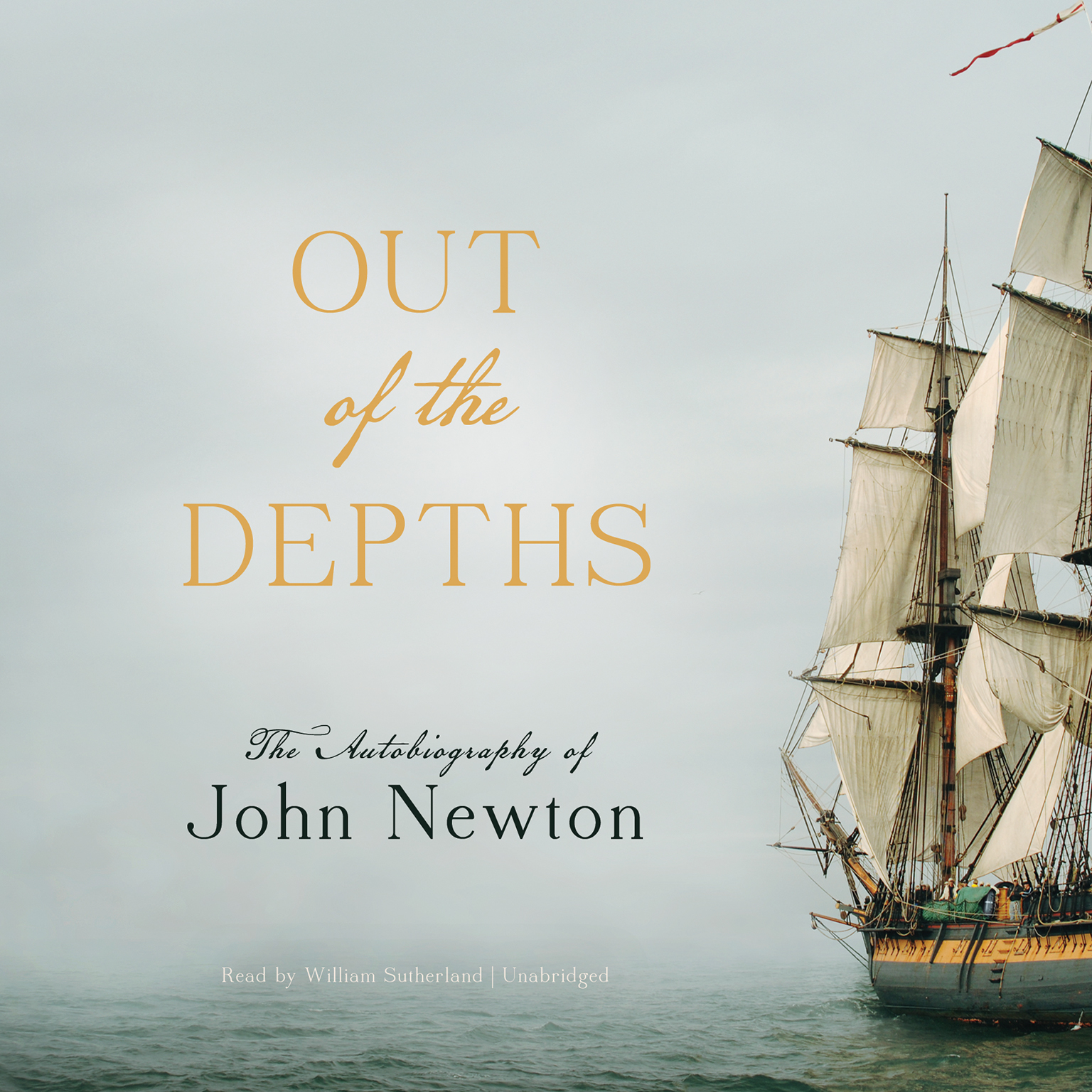 Printable Out of the Depths: The Autobiography of John Newton Audiobook Cover Art