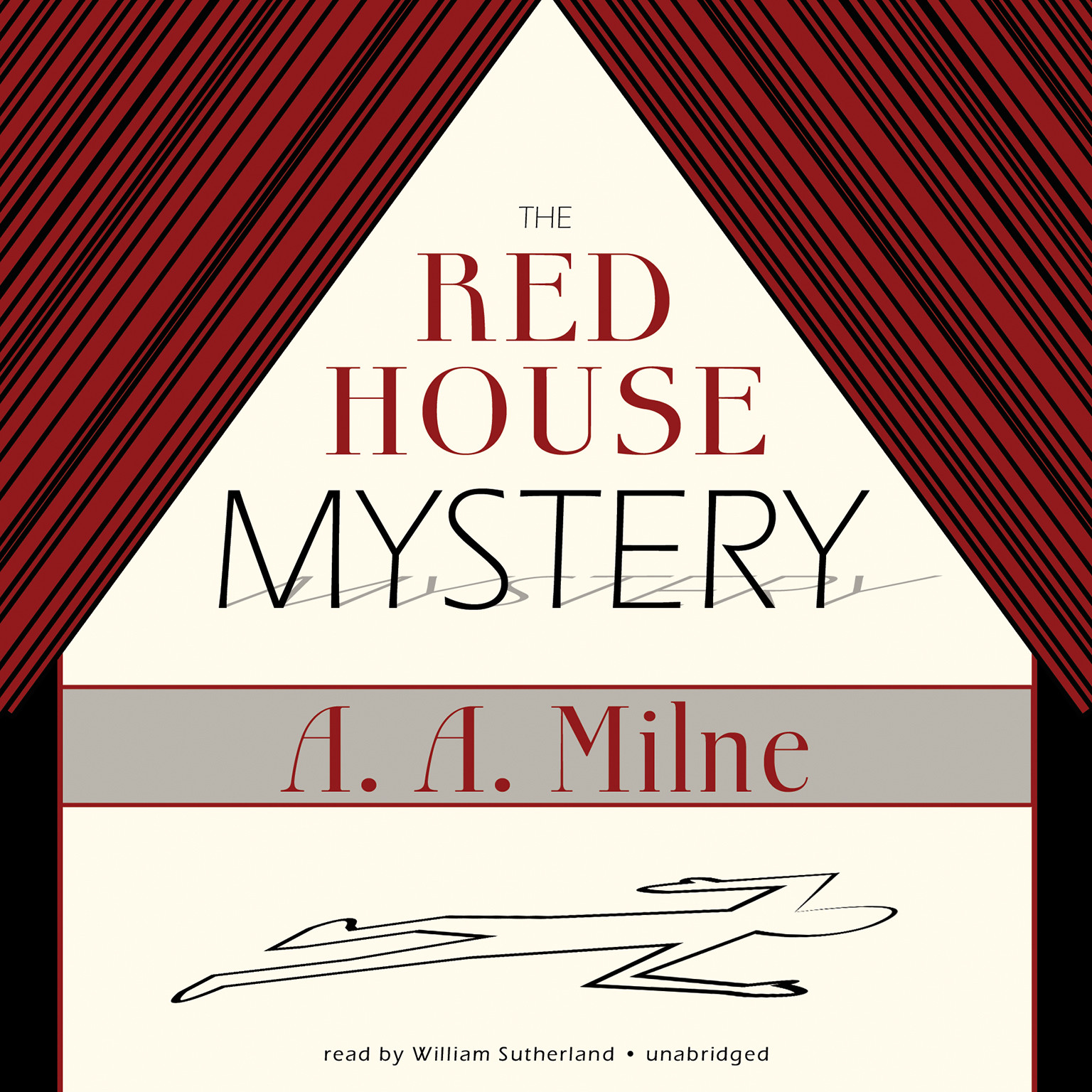 Printable The Red House Mystery Audiobook Cover Art