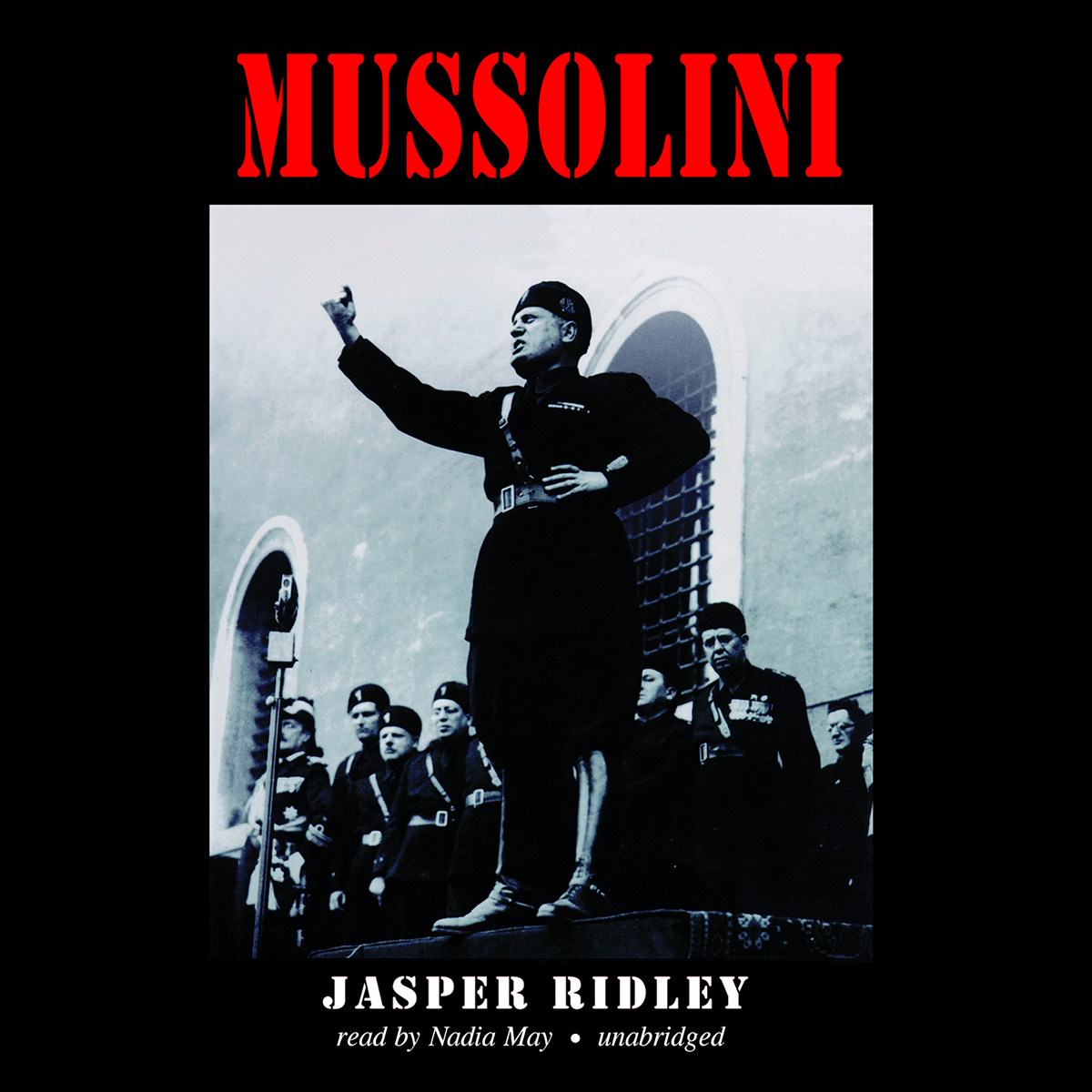 Printable Mussolini Audiobook Cover Art