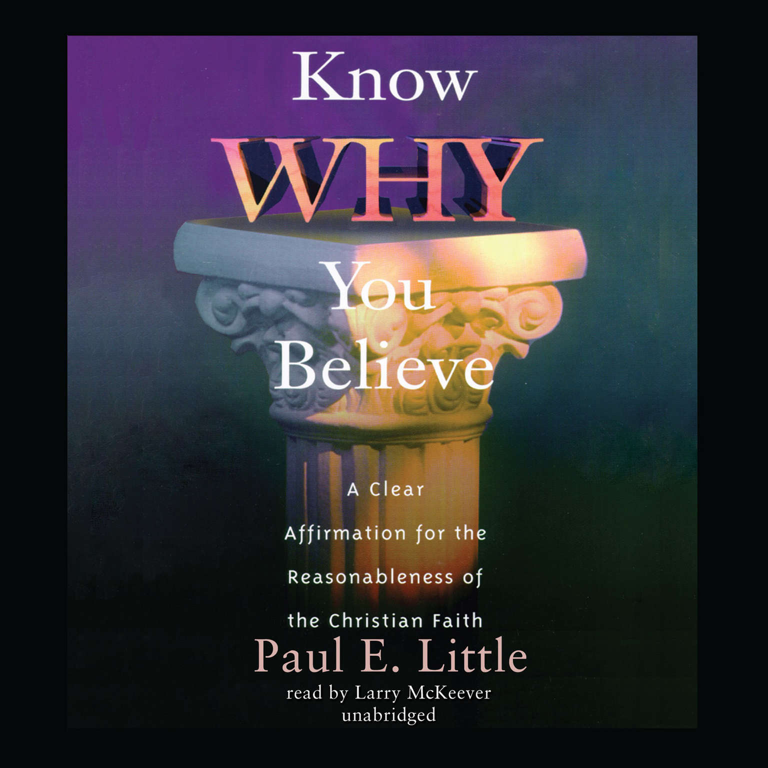 Printable Know Why You Believe Audiobook Cover Art