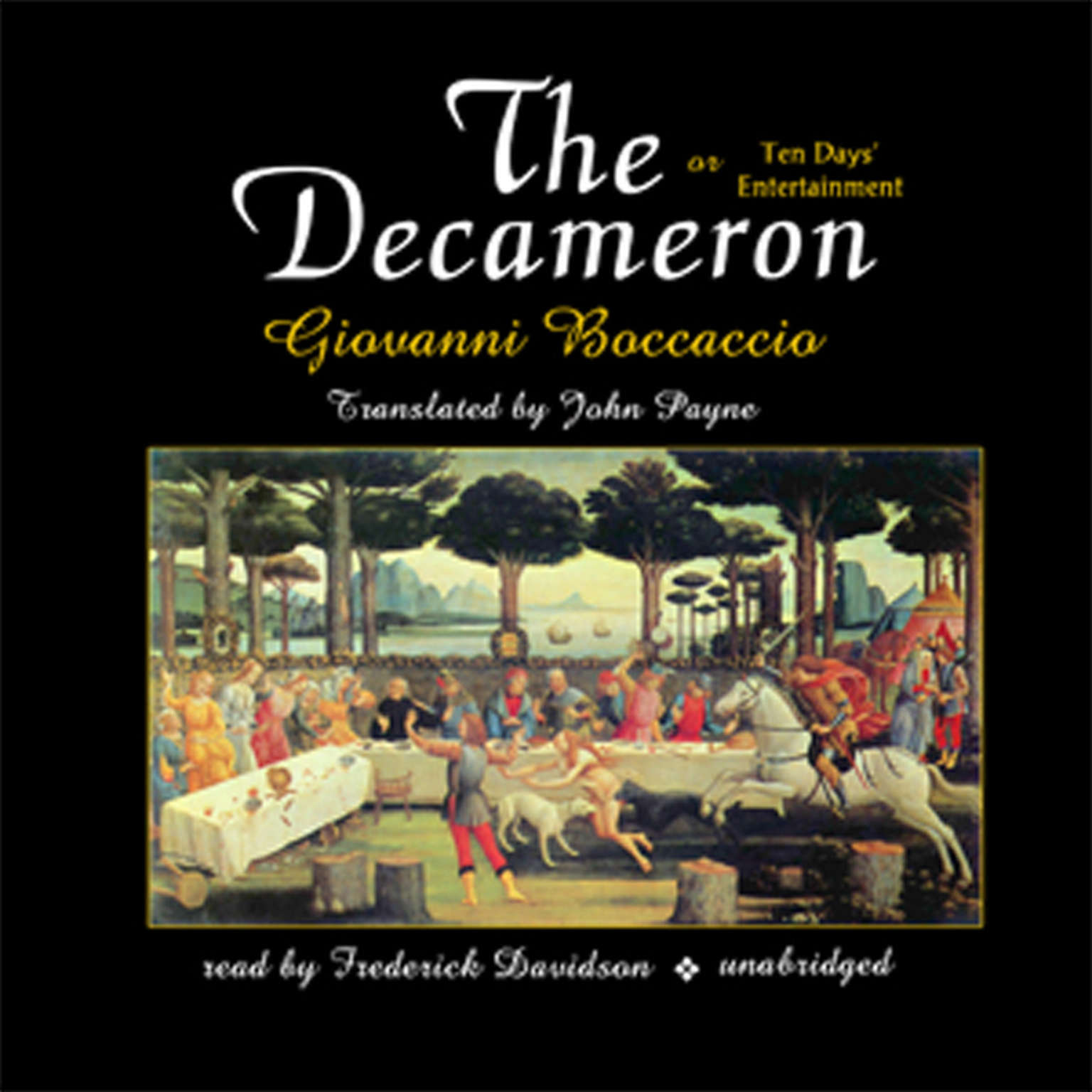 Printable The Decameron: or Ten Days' Entertainment Audiobook Cover Art