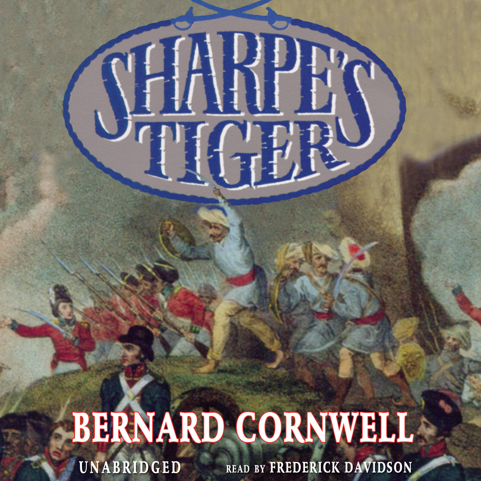 Printable Sharpe's Tiger: Richard Sharpe and the Siege of Seringapatam, 1799 Audiobook Cover Art