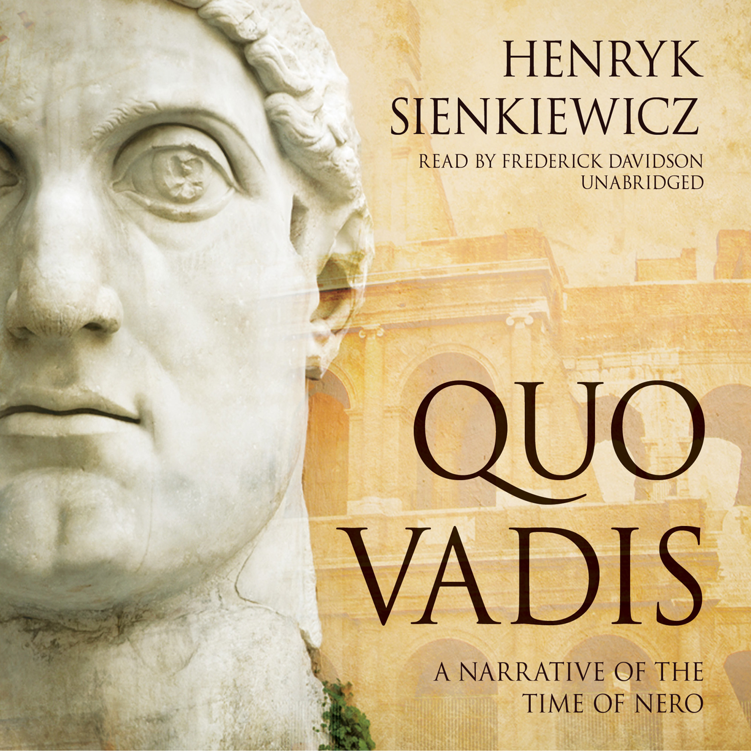 Printable Quo Vadis: A Narrative of the Time of Nero Audiobook Cover Art