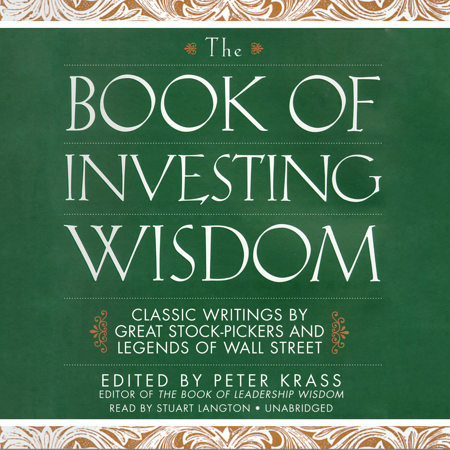 Printable The Book of Investing Wisdom: Classic Writings by Great Stock-Pickers and Legends of Wall Street Audiobook Cover Art