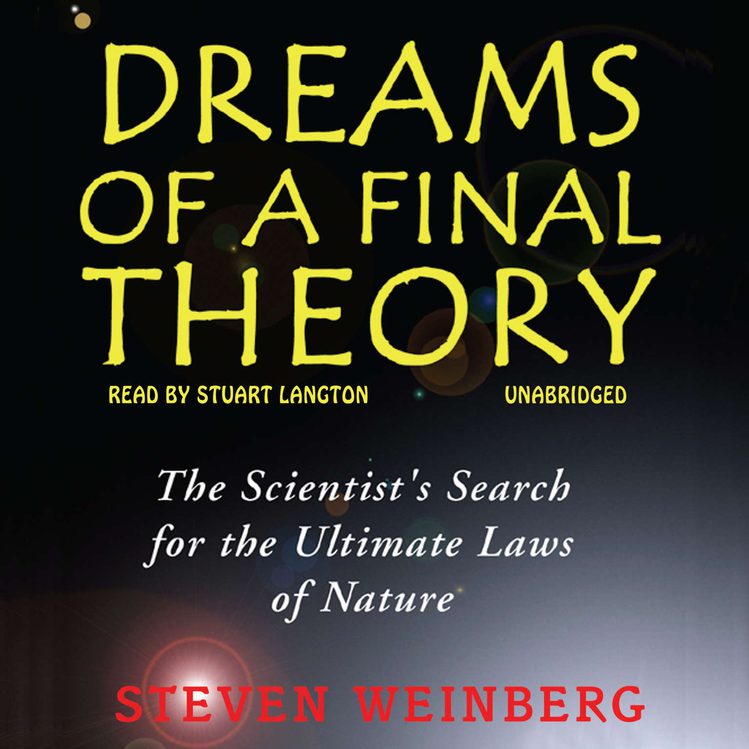 Printable Dreams of a Final Theory Audiobook Cover Art
