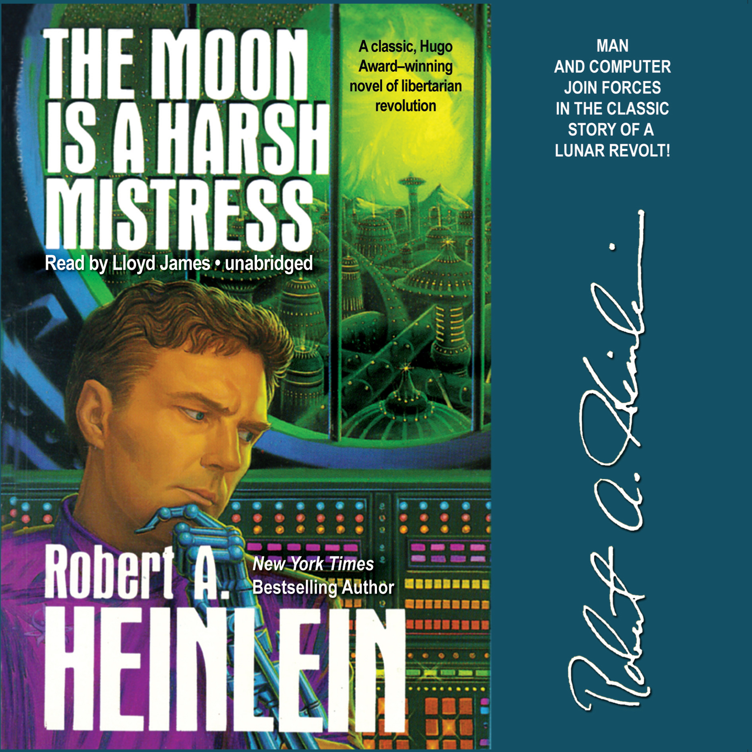 Printable The Moon is a Harsh Mistress Audiobook Cover Art
