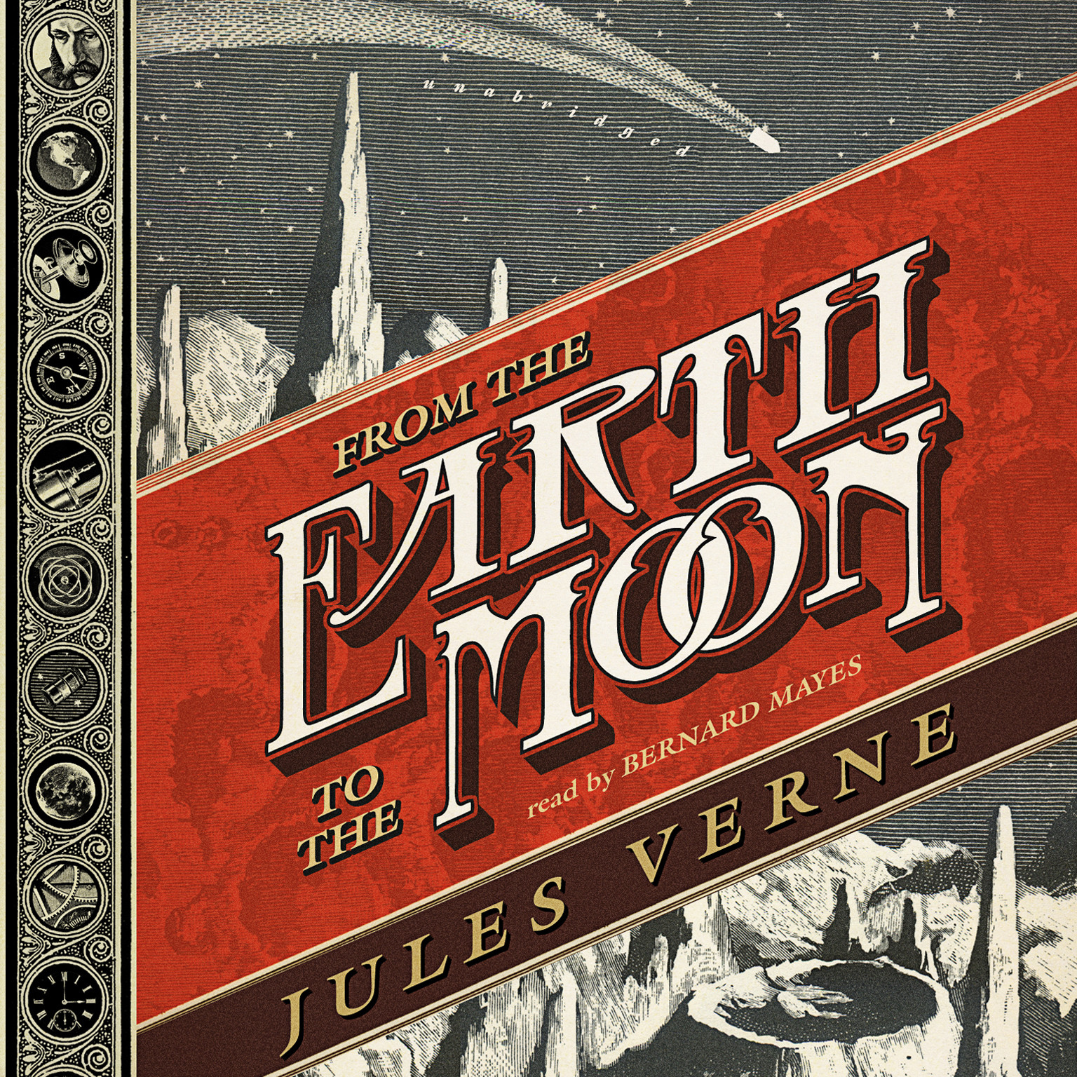 Printable From the Earth to the Moon Audiobook Cover Art