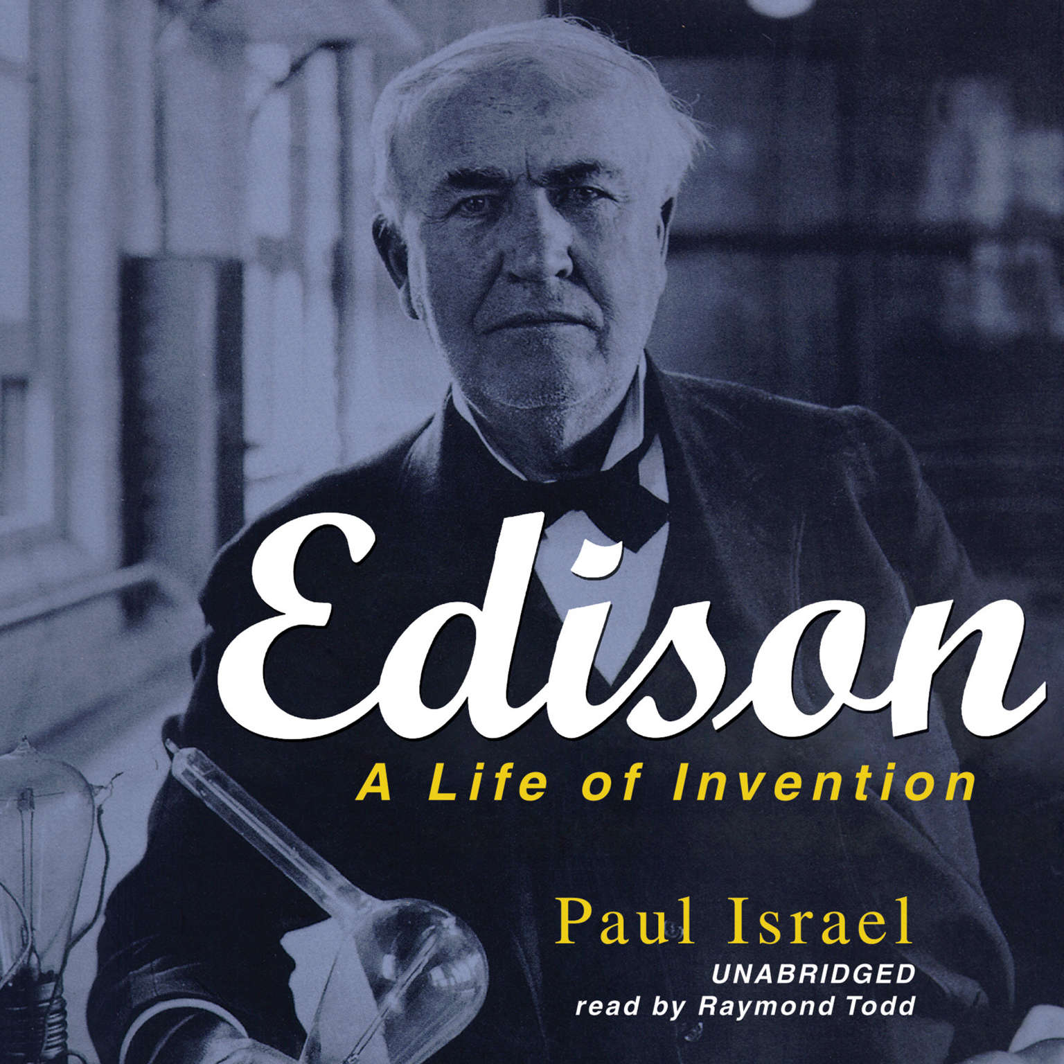 Printable Edison: A Life of Invention Audiobook Cover Art