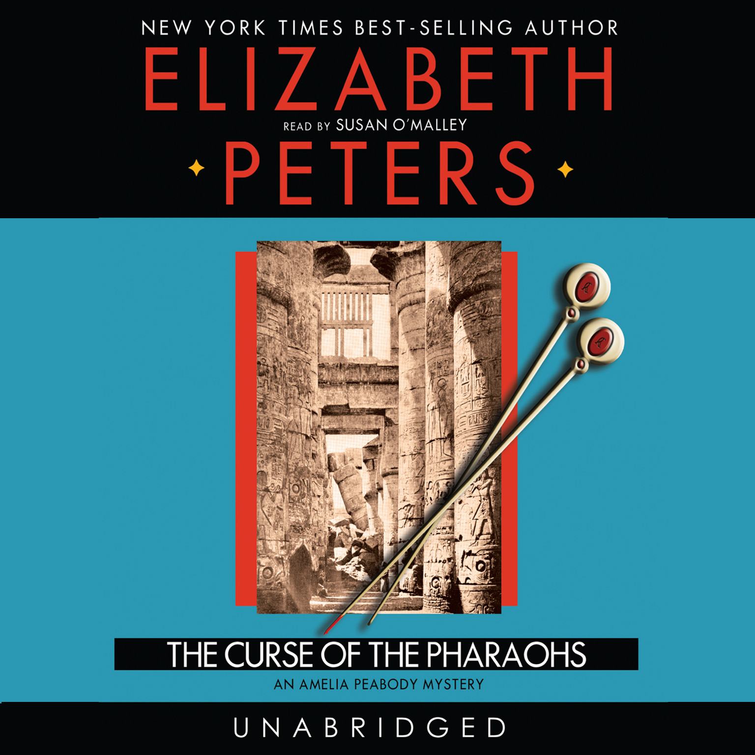 Printable The Curse of the Pharaohs: An Amelia Peabody Mystery Audiobook Cover Art