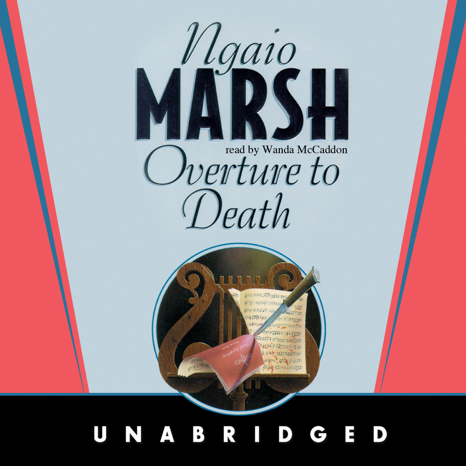 Printable Overture to Death Audiobook Cover Art