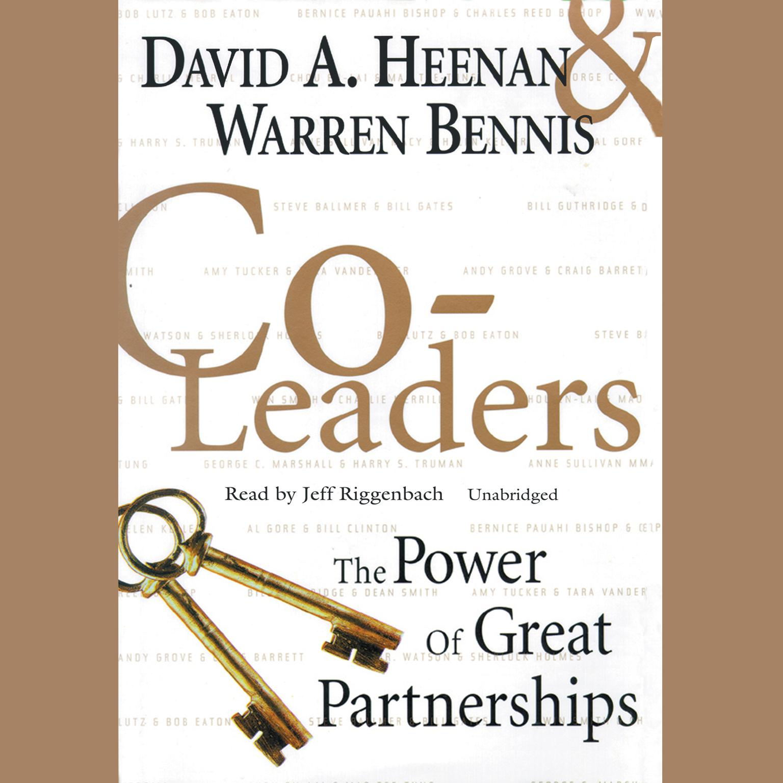 Printable Co-Leaders: The Power of Great Partnerships Audiobook Cover Art