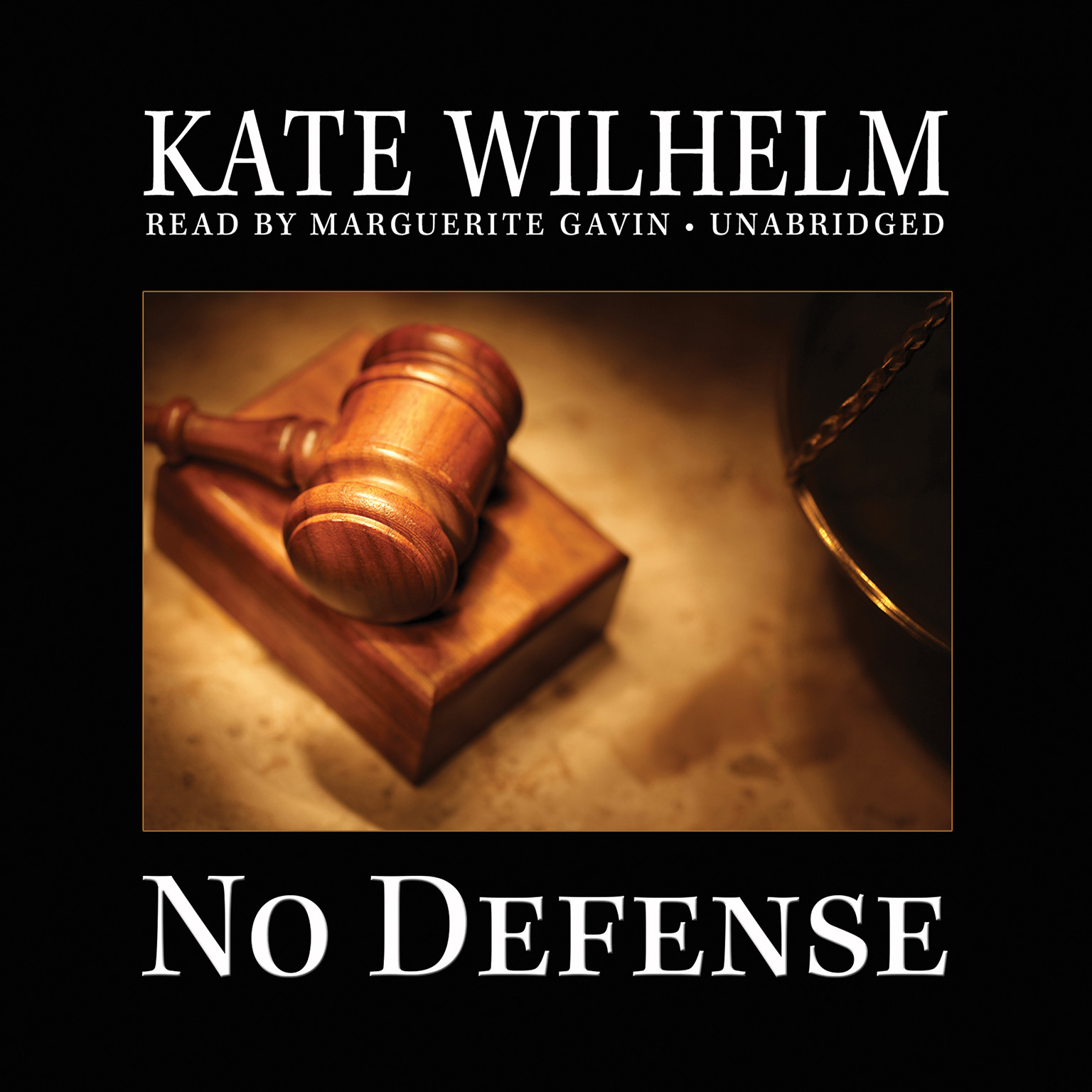 Printable No Defense Audiobook Cover Art