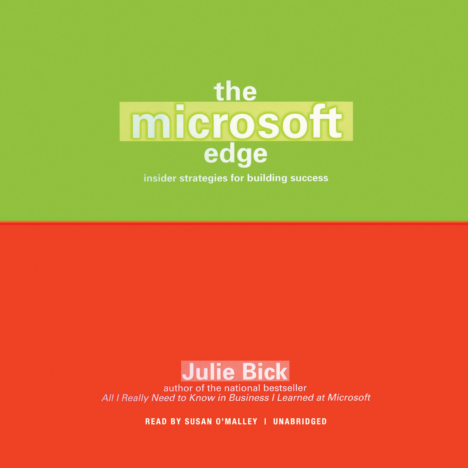Printable The Microsoft Edge: Insider Strategies for Building Success Audiobook Cover Art