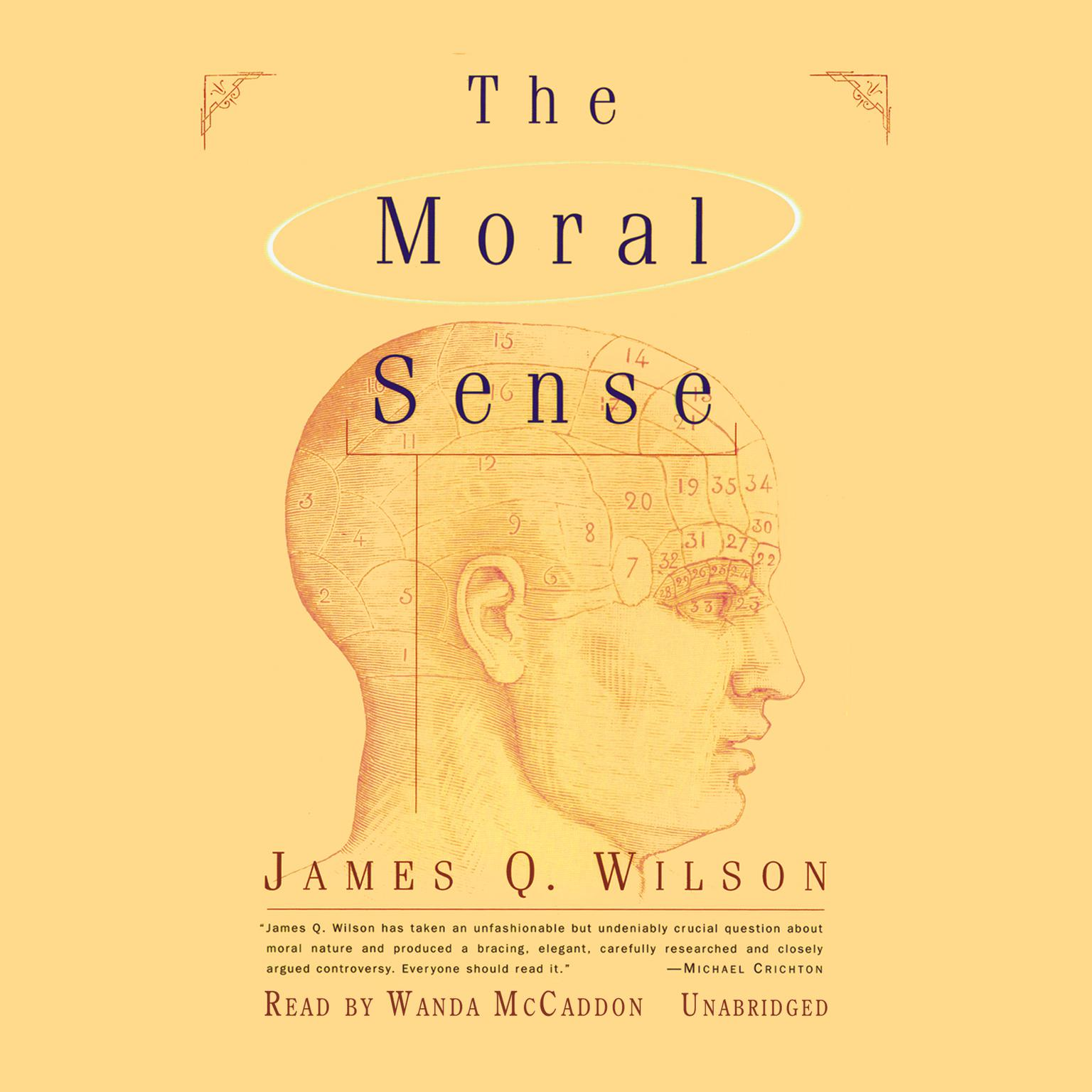Printable The Moral Sense Audiobook Cover Art