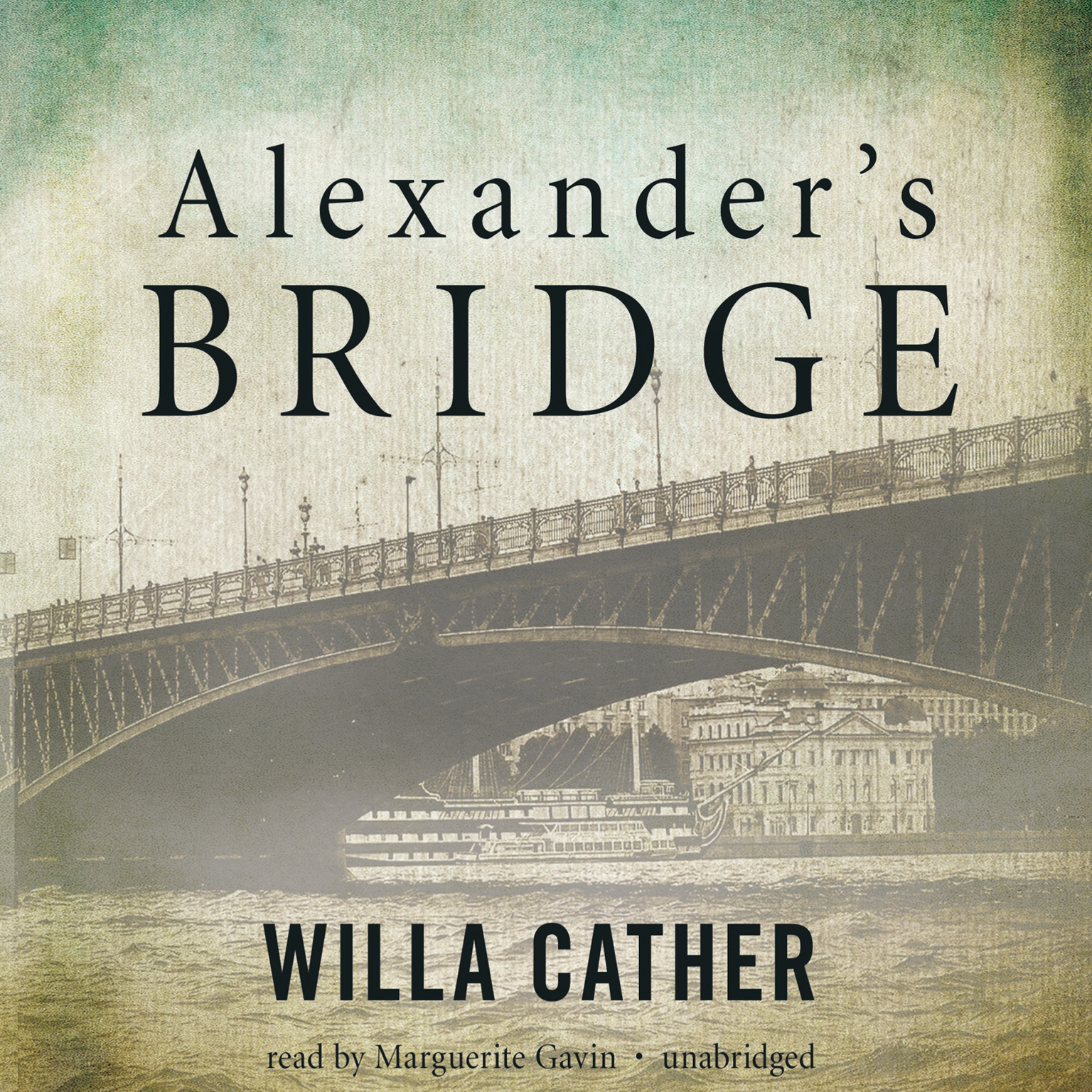 Printable Alexander's Bridge Audiobook Cover Art