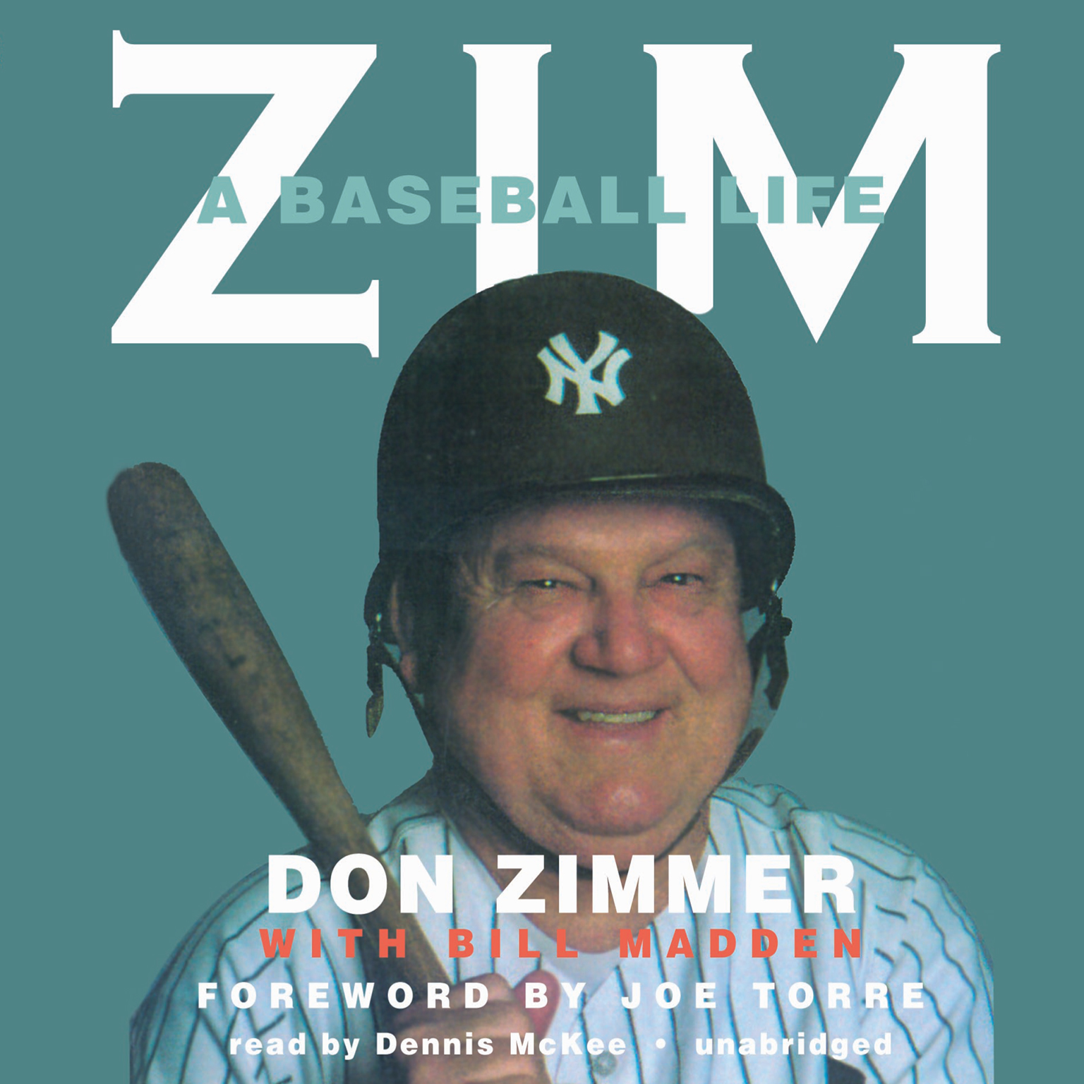 Printable Zim: A Baseball Life Audiobook Cover Art