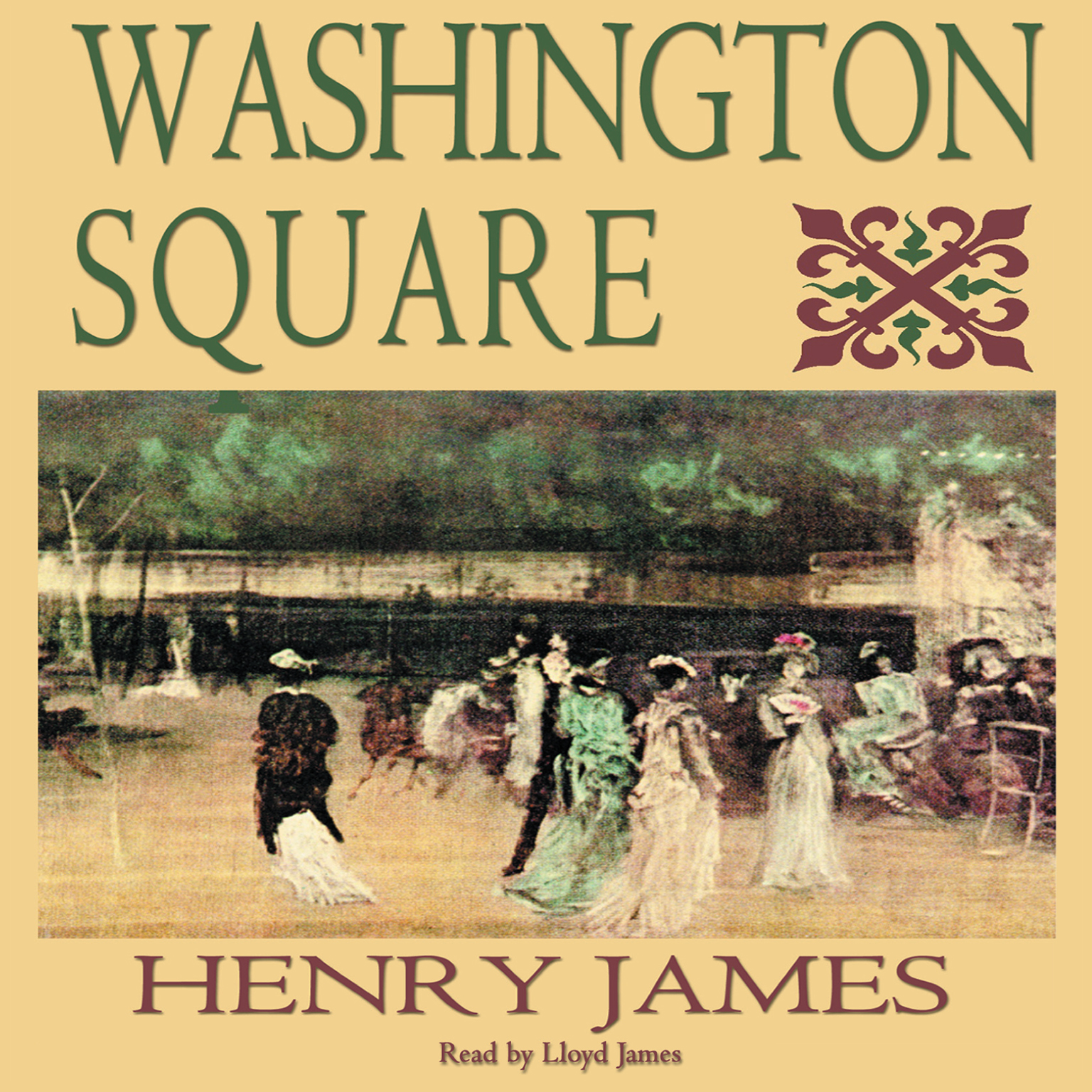 Printable Washington Square Audiobook Cover Art