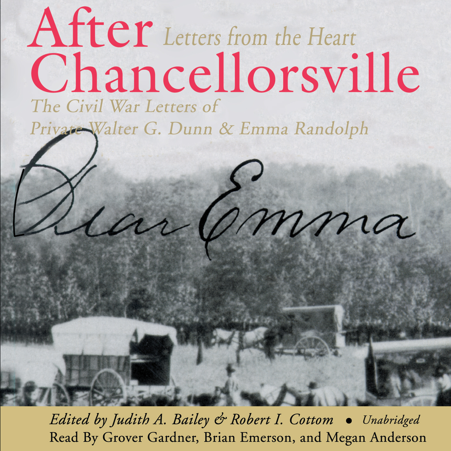 Printable After Chancellorsville: Letters from the Heart: The Civil War Letters of Private Walter G. Dunn and Emma Randolph Audiobook Cover Art