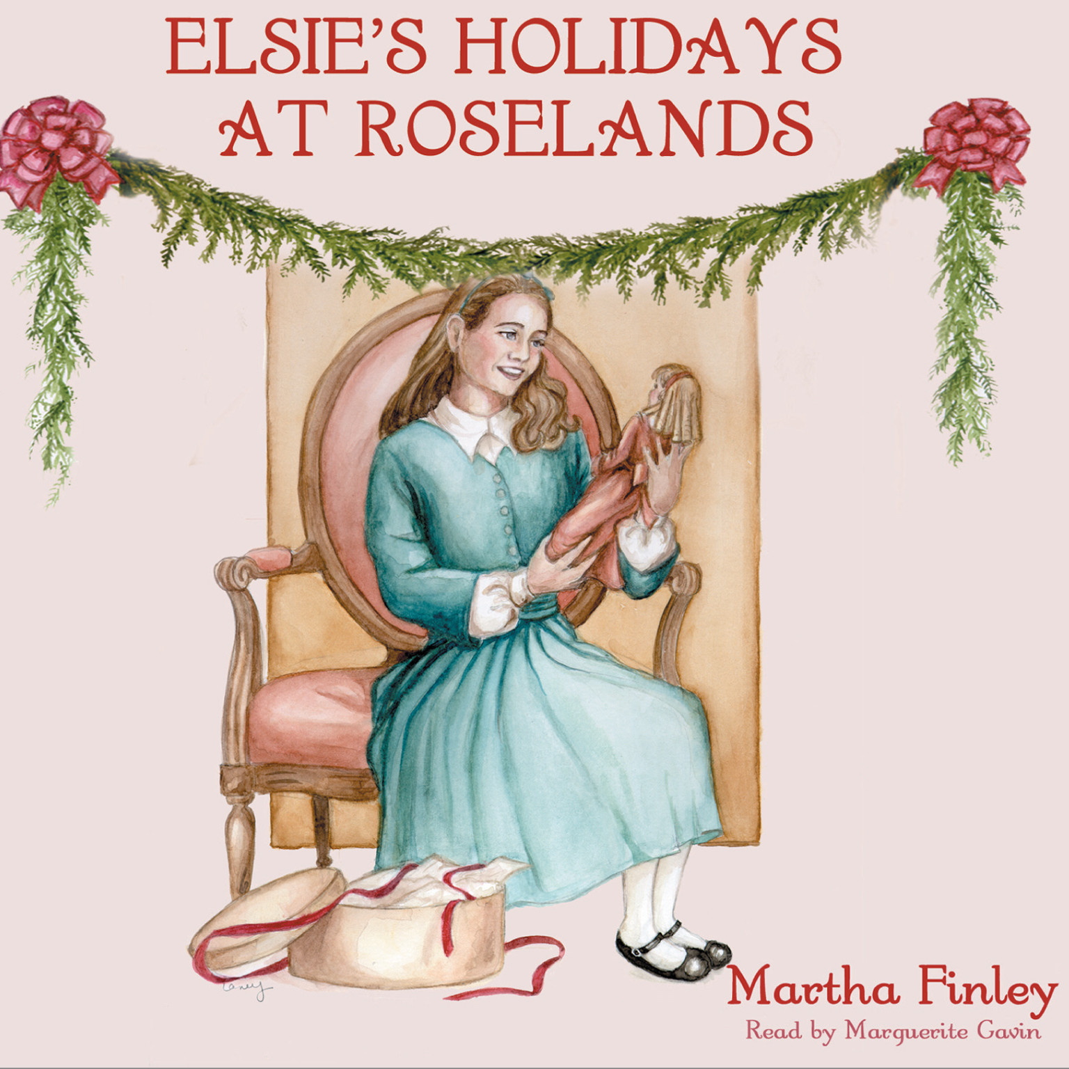 Printable Elsie's Holidays at Roselands Audiobook Cover Art