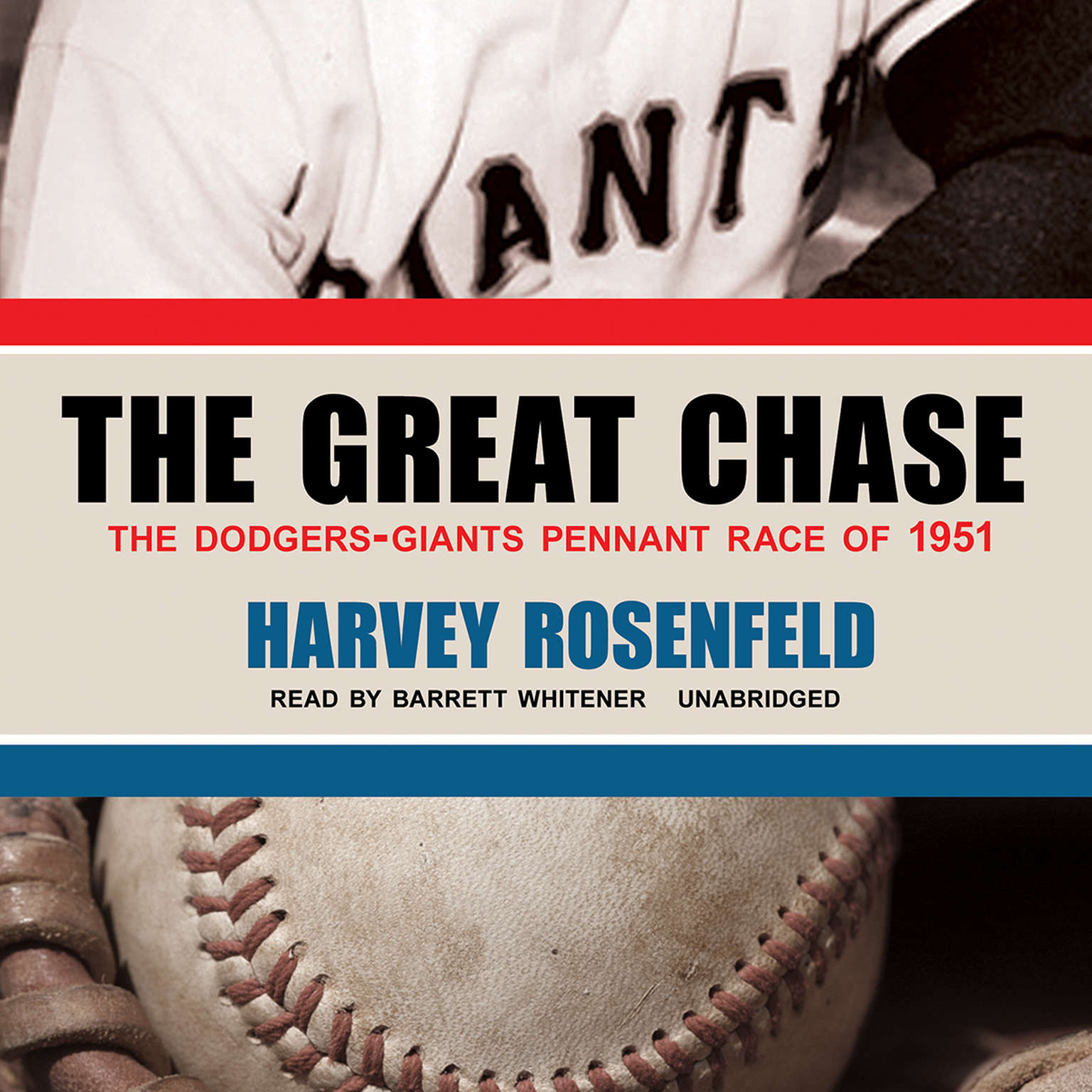 Printable The Great Chase: The Dodgers-Giants Pennant Race of 1951 Audiobook Cover Art