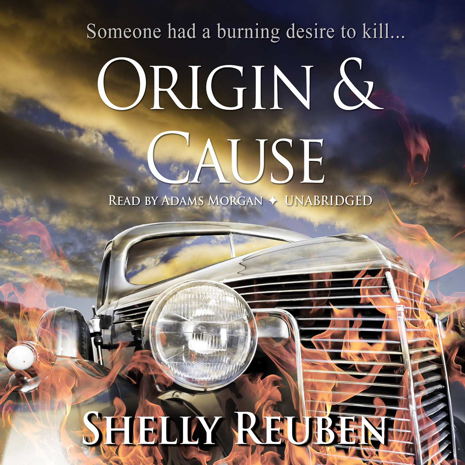 Printable Origin and Cause Audiobook Cover Art