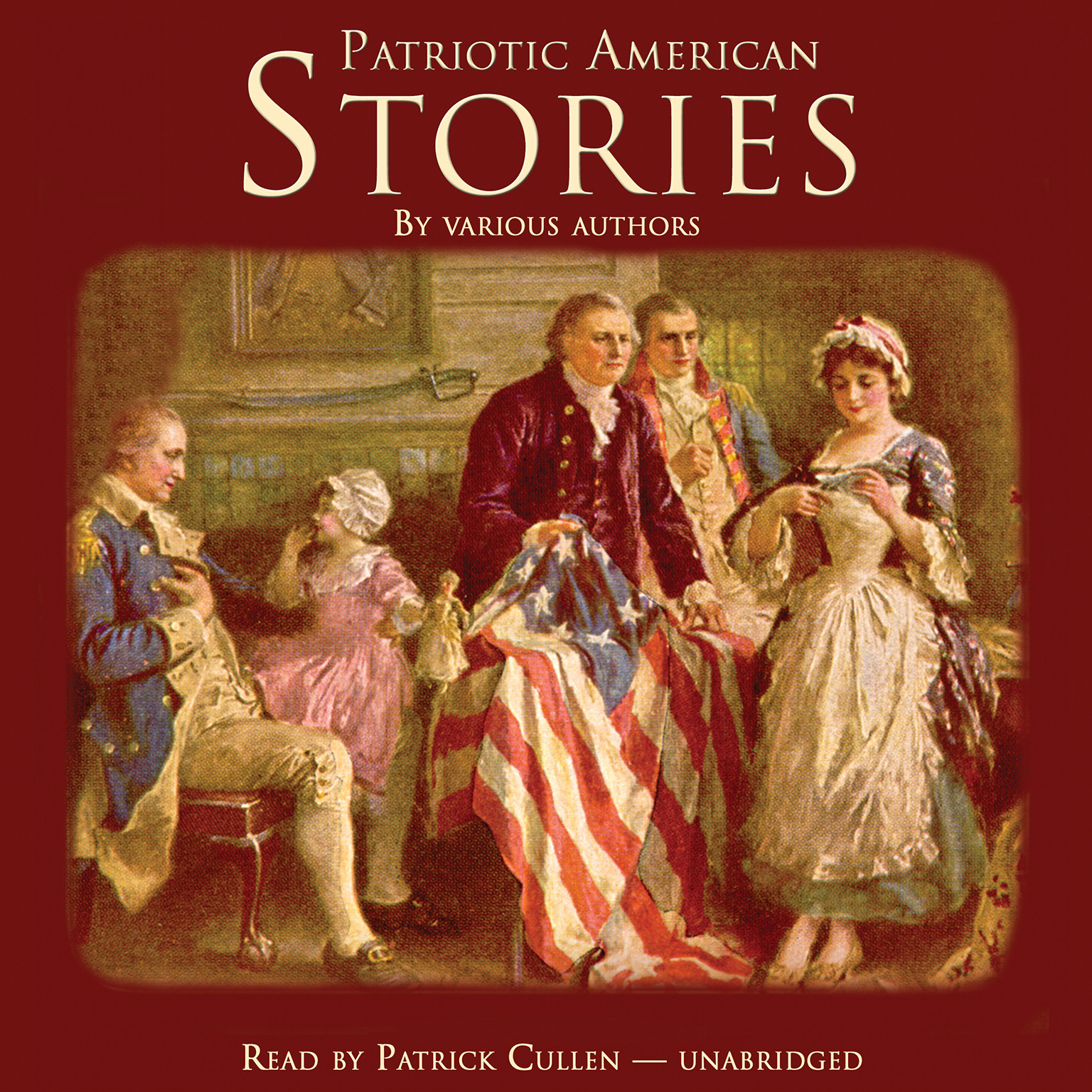 Printable Patriotic American Stories Audiobook Cover Art