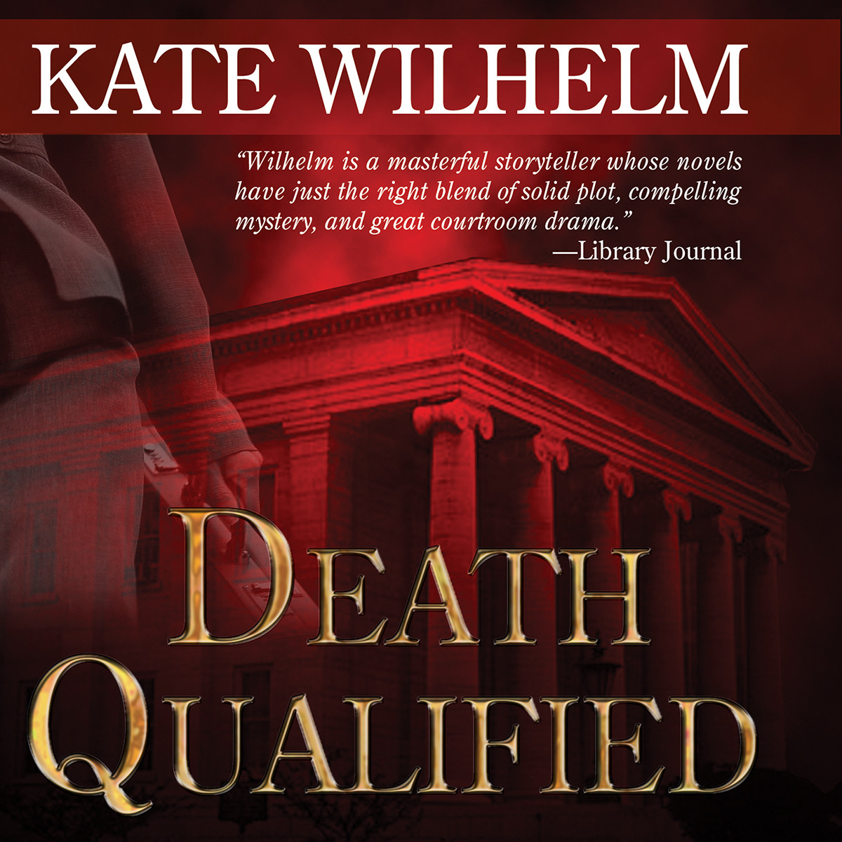 Printable Death Qualified: A Mystery of Chaos Audiobook Cover Art