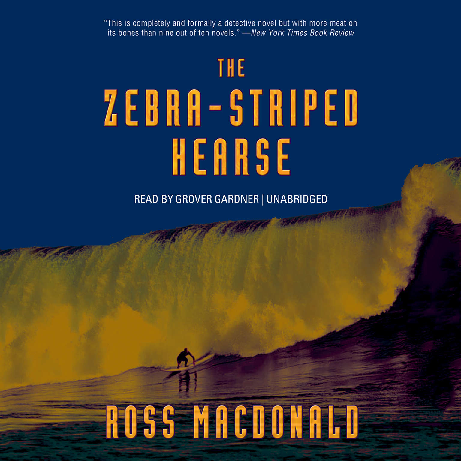 Printable The Zebra-Striped Hearse Audiobook Cover Art