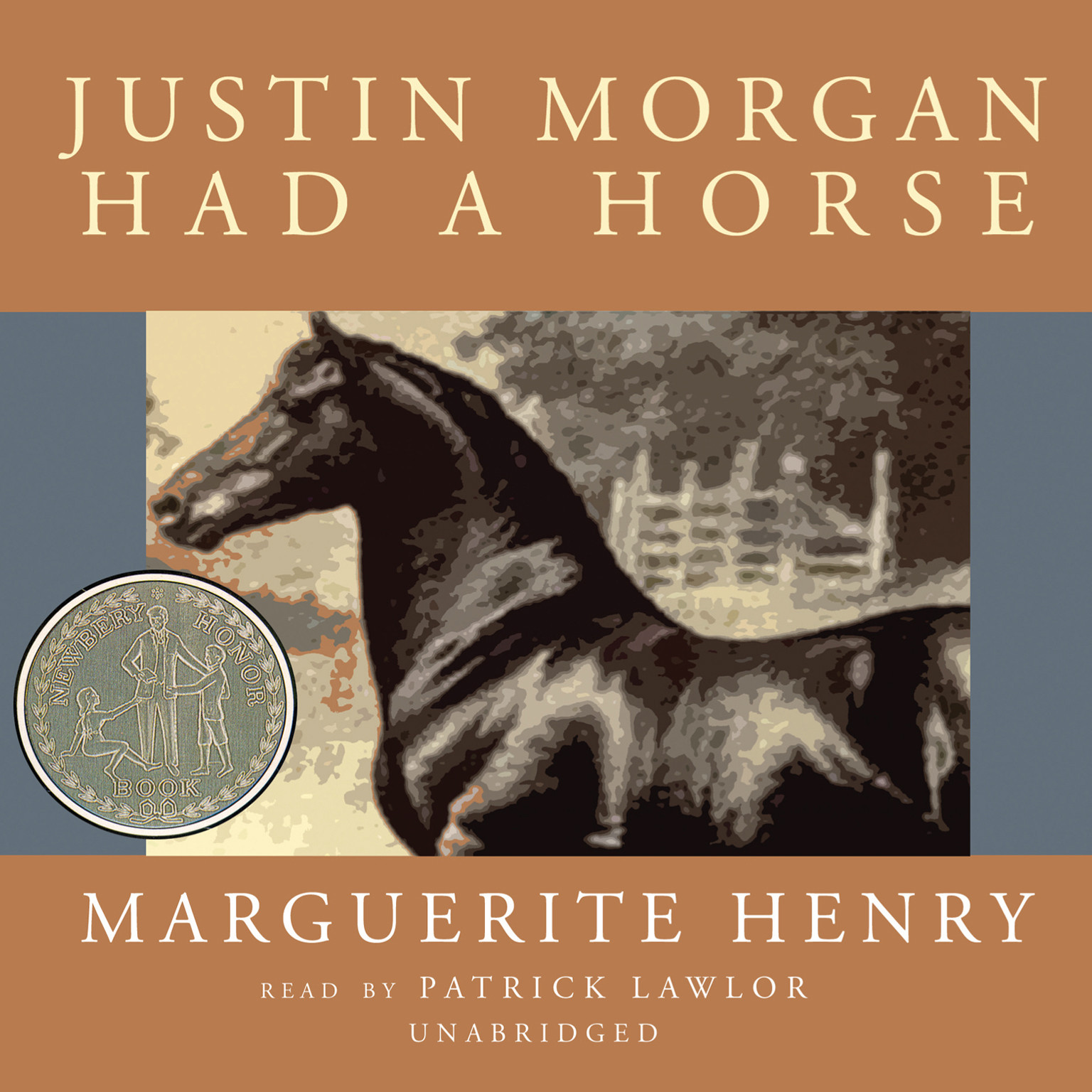 Printable Justin Morgan Had a Horse Audiobook Cover Art