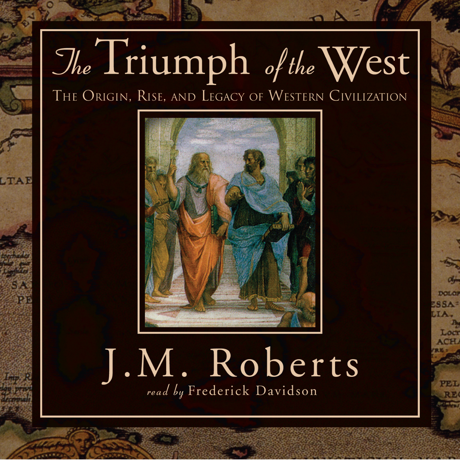 Printable The Triumph of the West: The Origin, Rise, and Legacy of Western Civilization Audiobook Cover Art
