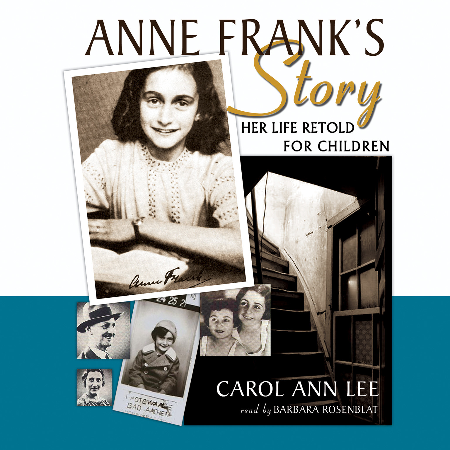 Printable Anne Frank's Story: Her Life Retold for Children Audiobook Cover Art